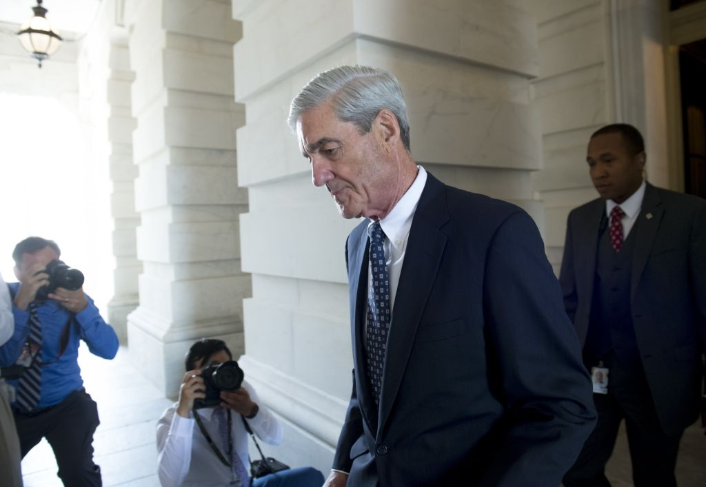 Former FBI Director Robert Mueller, special counsel on the Russian investigation, leaves following a meeting with members of the US Senate Judiciary Committee at the US Capitol in Washington, DC on June 21, 2017.