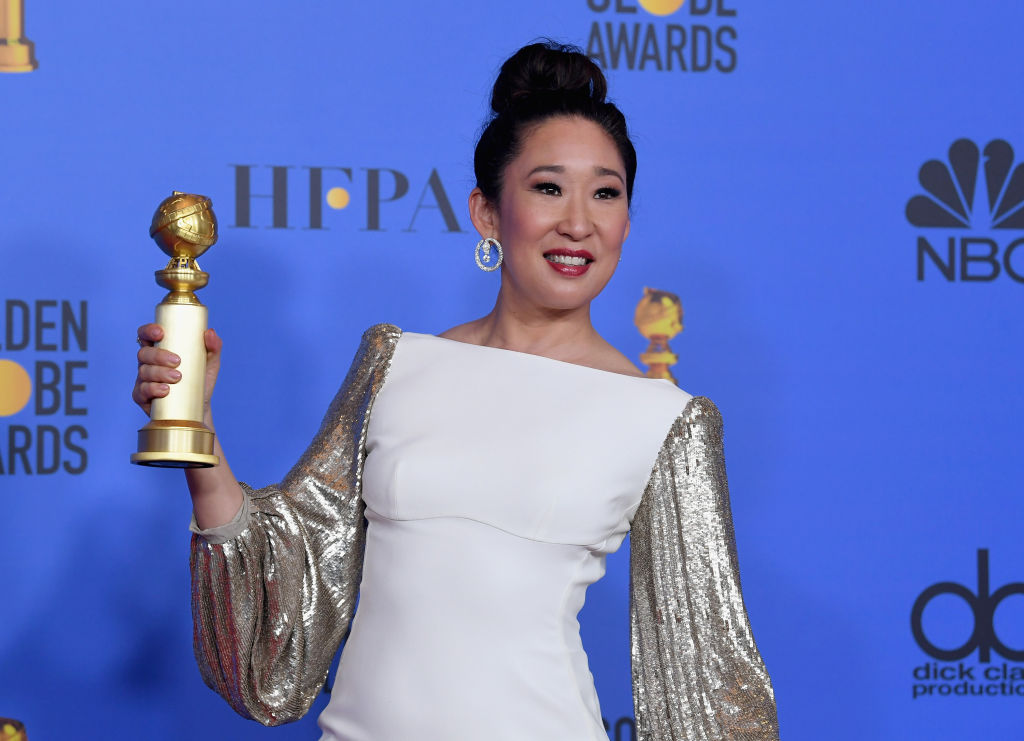 Host and Best Performance by an Actress in a Television Series Drama 'for Killing Eve' winner Sandra Oh poses in the press room during the 76th Annual Golden Globe Awards at The Beverly Hilton Hotel on January 6, 2019 in Beverly Hills, California.