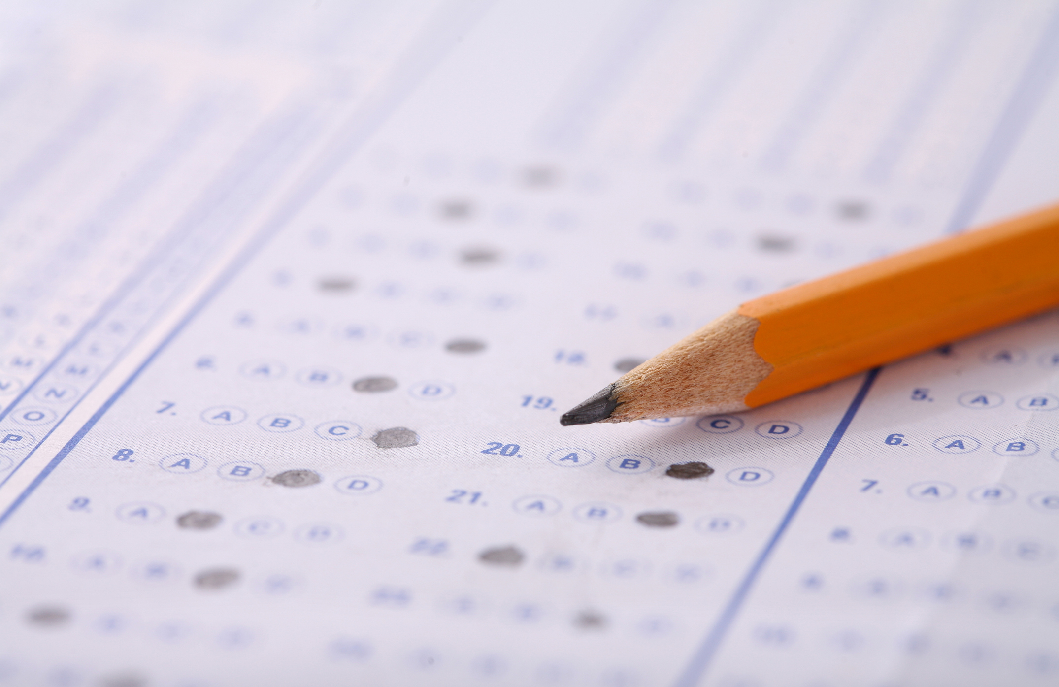 Bubble Sheet Test with Pencil. The College Board is starting a new 'adversity score' to measure the hardships that high school students face, but it doesn't include race.