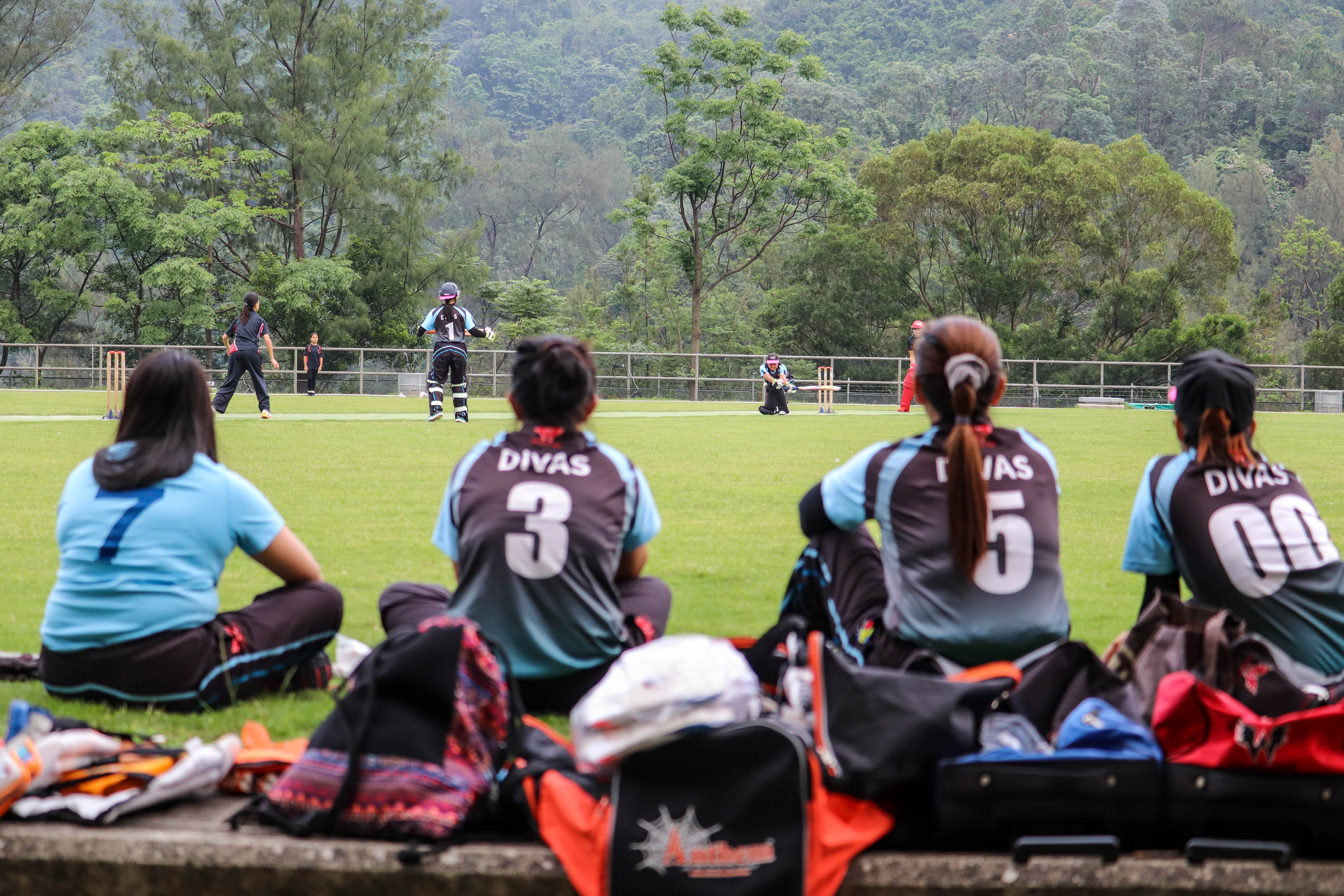 The SCC Divas in action against a local cricket team at Po Kong Village Road Park, Hong Kong, on April 28, 2019