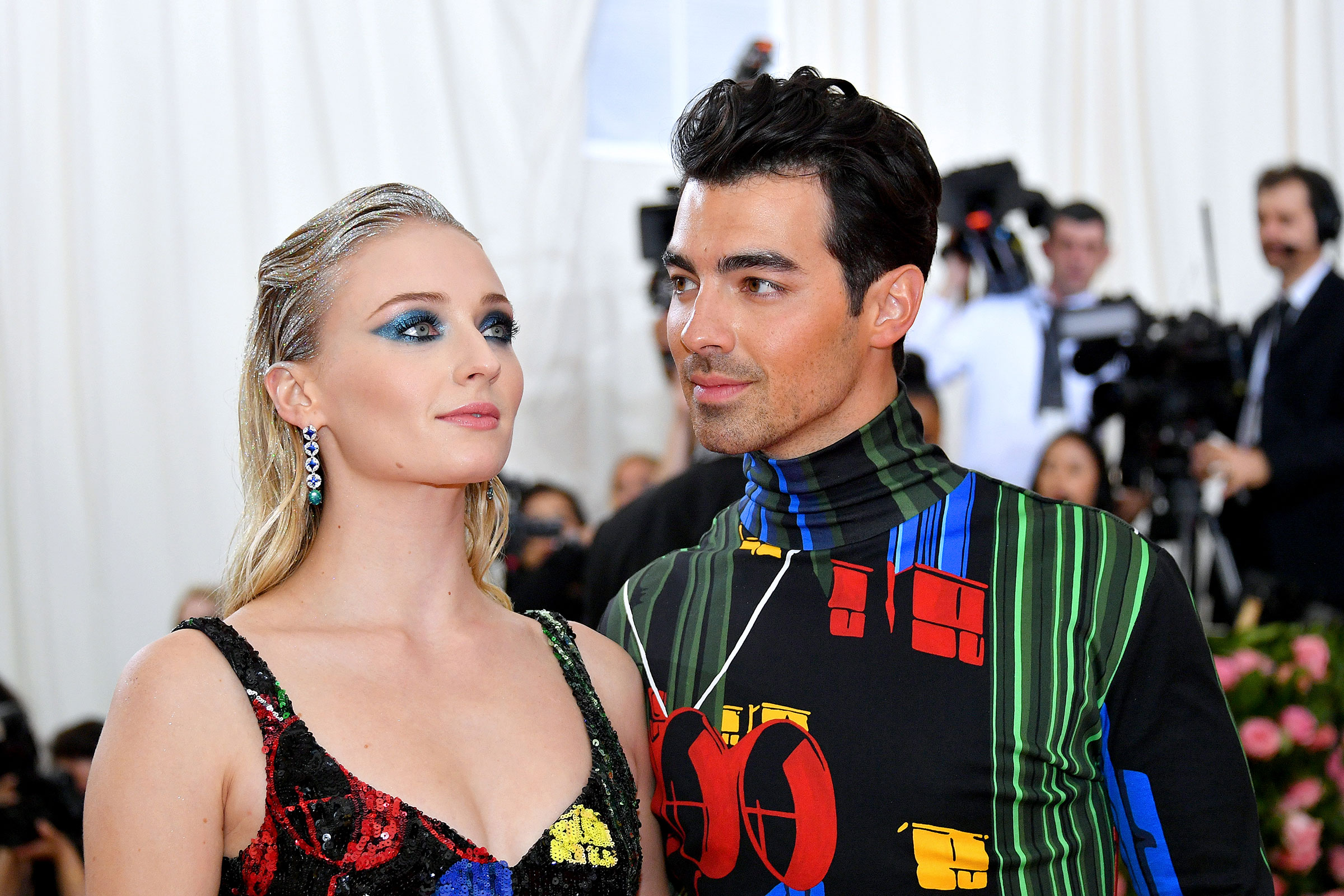 Joe Jonas and Sophie Turner attend The 2019 Met Gala Celebrating Camp: Notes on Fashion at Metropolitan Museum of Art on May 06, 2019 in New York City.