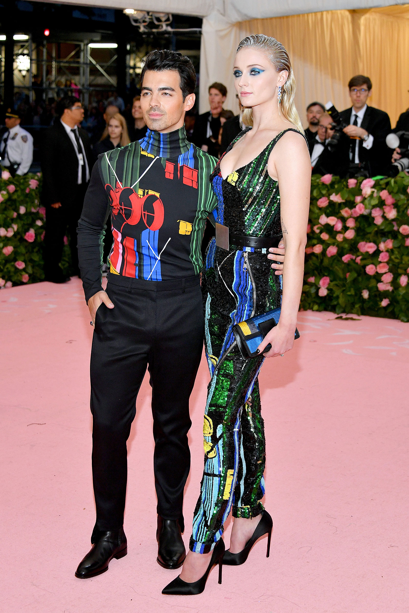 Jonas and Sophie Turner attend The 2019 Met Gala Celebrating Camp: Notes on Fashion at Metropolitan Museum of Art on May 06, 2019 in New York City.