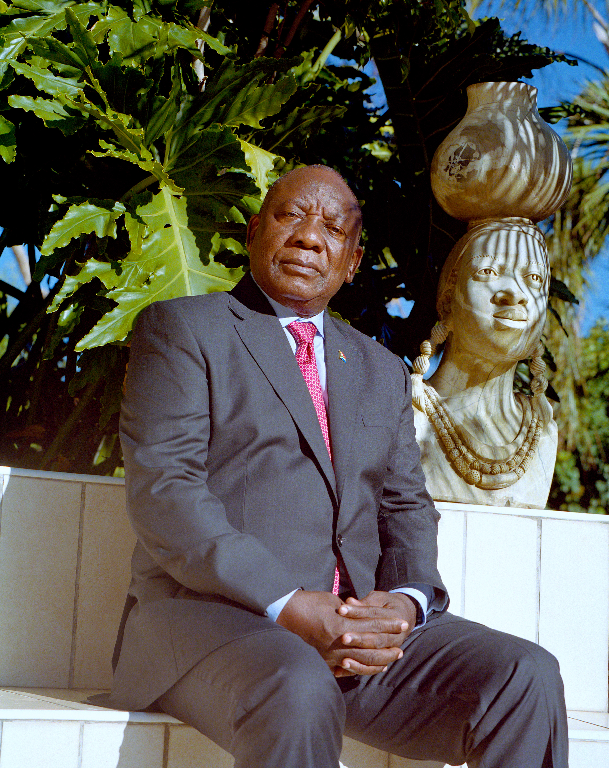 President of South Africa Cyril Ramaphosa at his residence on April 15, 2019.
