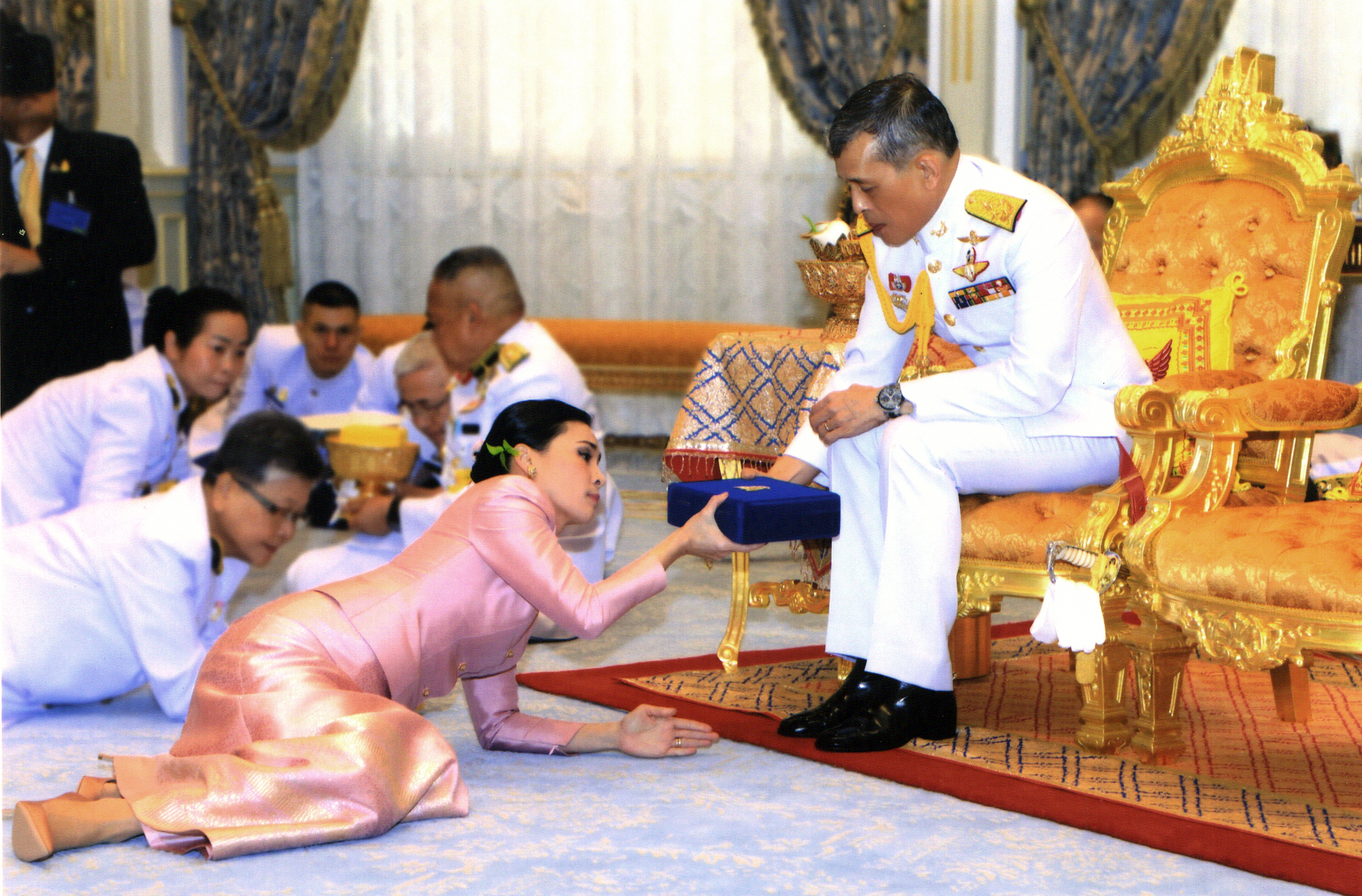 Thailand's King Maha Vajiralongkorn is shown in this file photo released by Bureau of the Royal Household on May 1, 2019.
