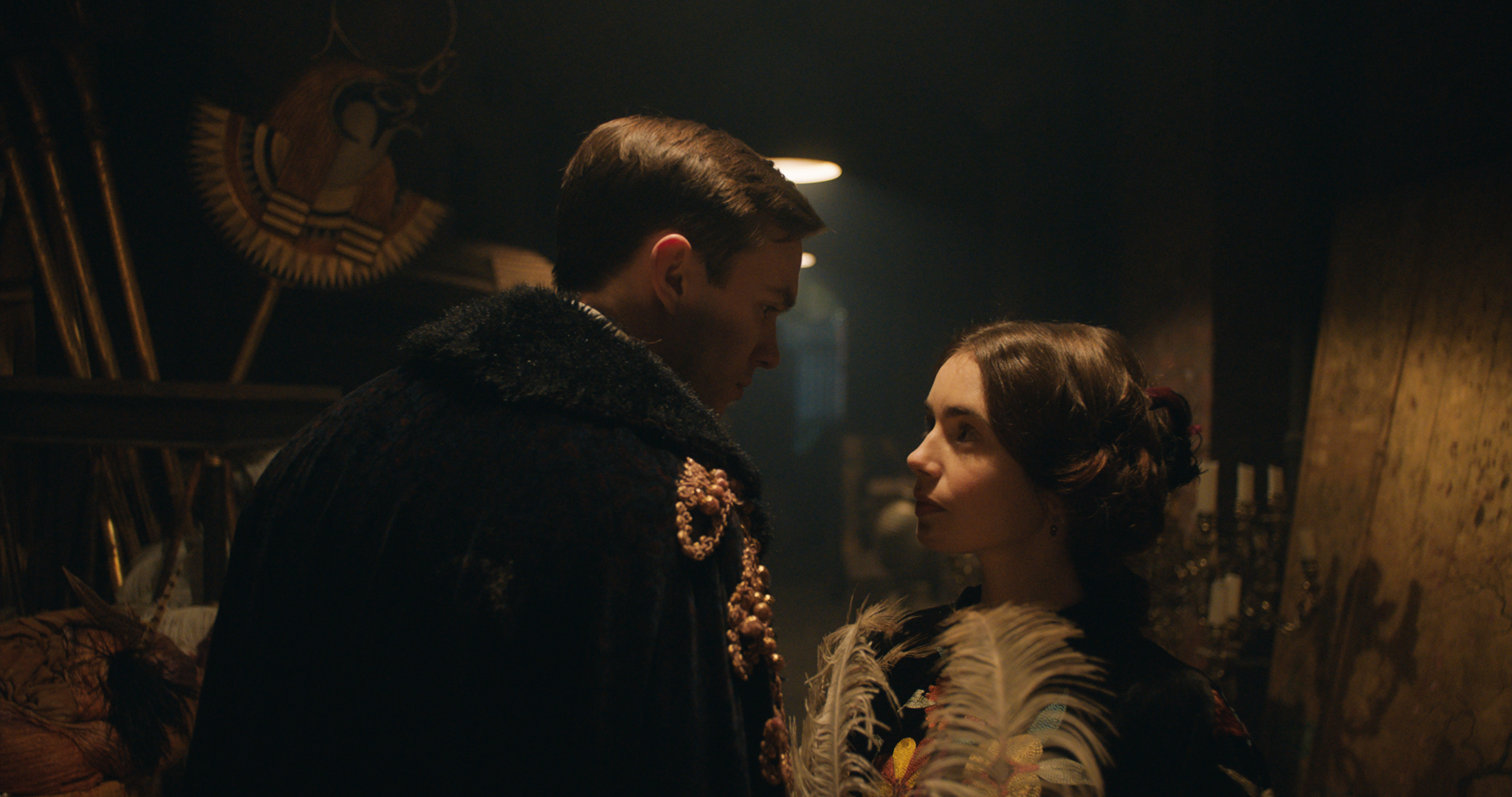 Nicholas Hoult and Lily Collins in the film 'Tolkien.' © 2019 Twentieth Century Fox Film Corporation All Rights Reserved