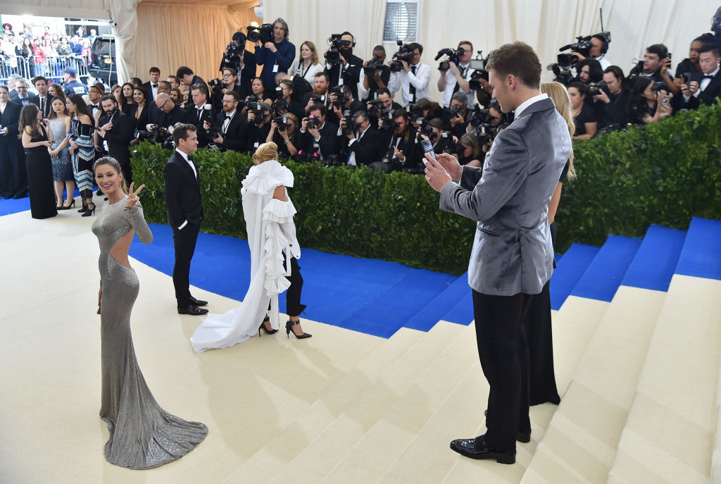 Tom Brady and Gisele Bundchen attend the  Rei Kawakubo/Comme des Garcons: Art Of The In-Between  Costume Institute Gala at Metropolitan Museum of Art on May 1, 2017 in New York City.