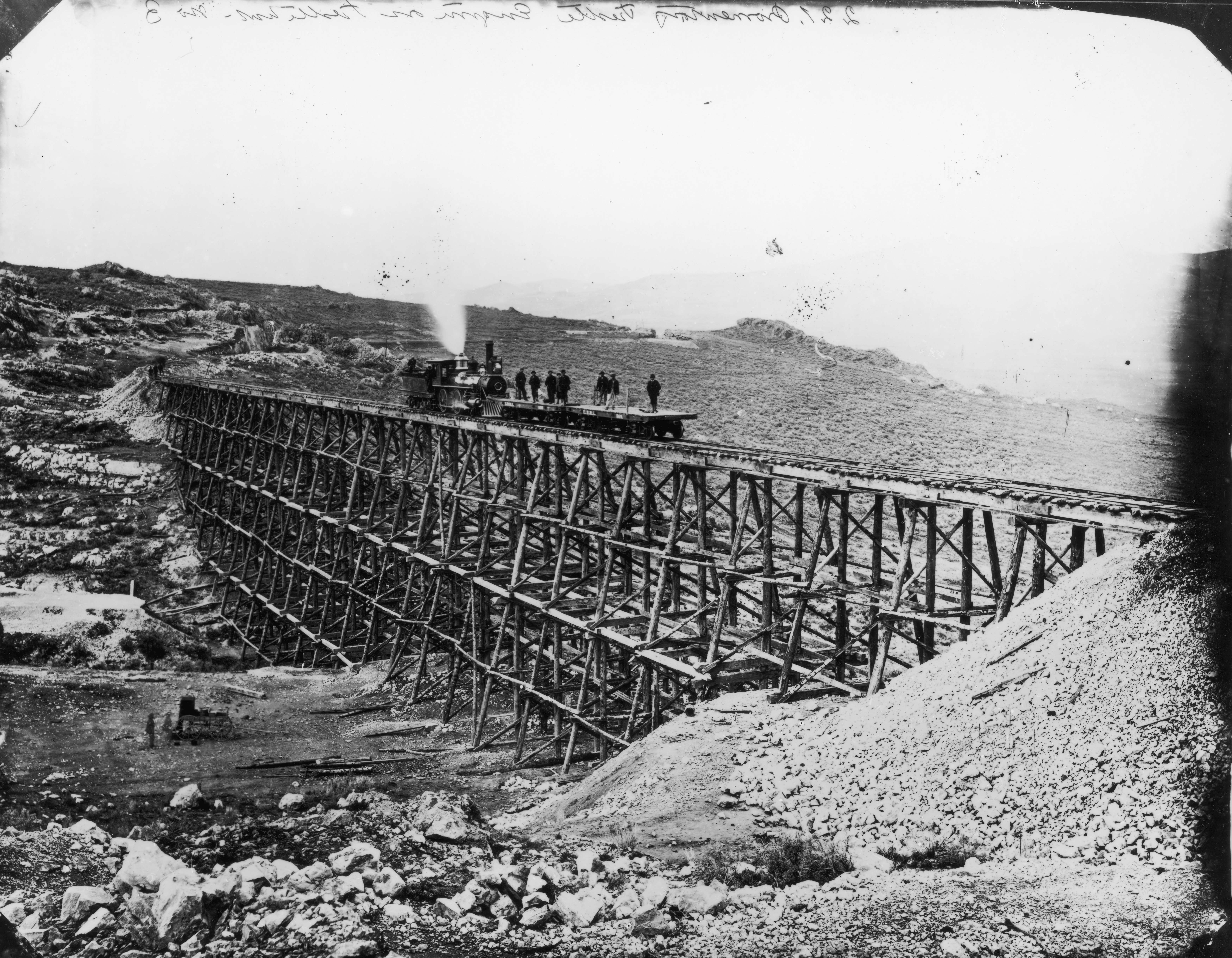 Photograph of First Transcontinental Railroad, circa 1869.