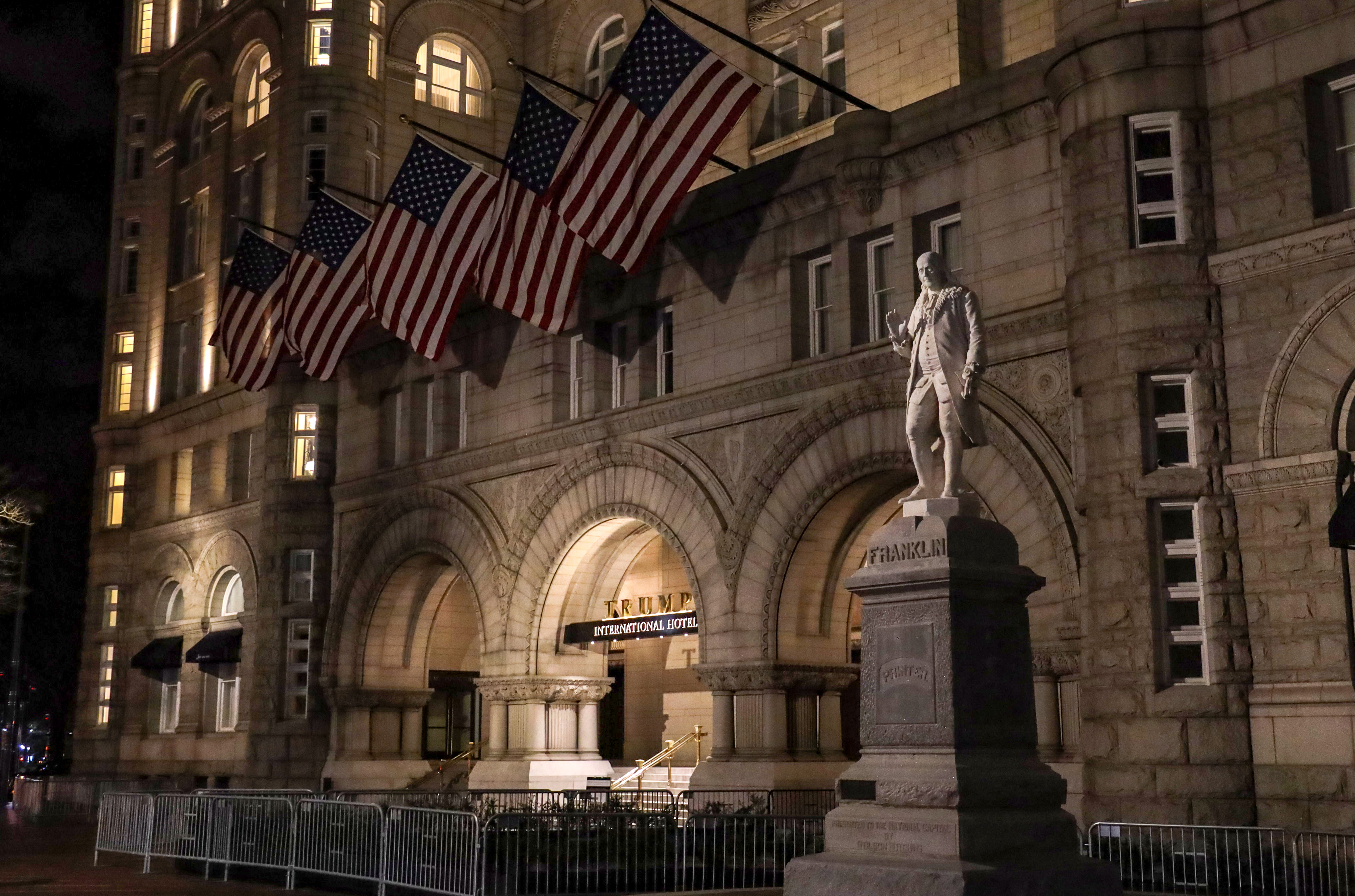 The Trump International Hotel in Washington, D.C. on March 22, 2019.