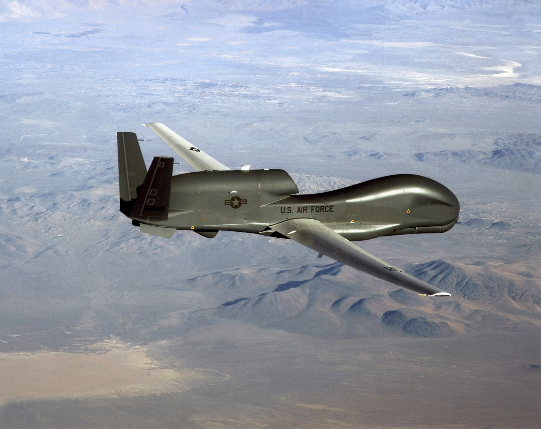 File photo of a RQ-4 Global Hawk unmanned surveillance and reconnaissance aircraft.
