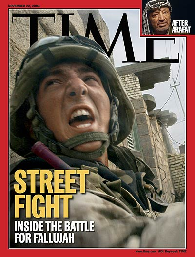 The Nov. 22, 2004 cover of TIME featured the battle for Fallujah in Iraq.