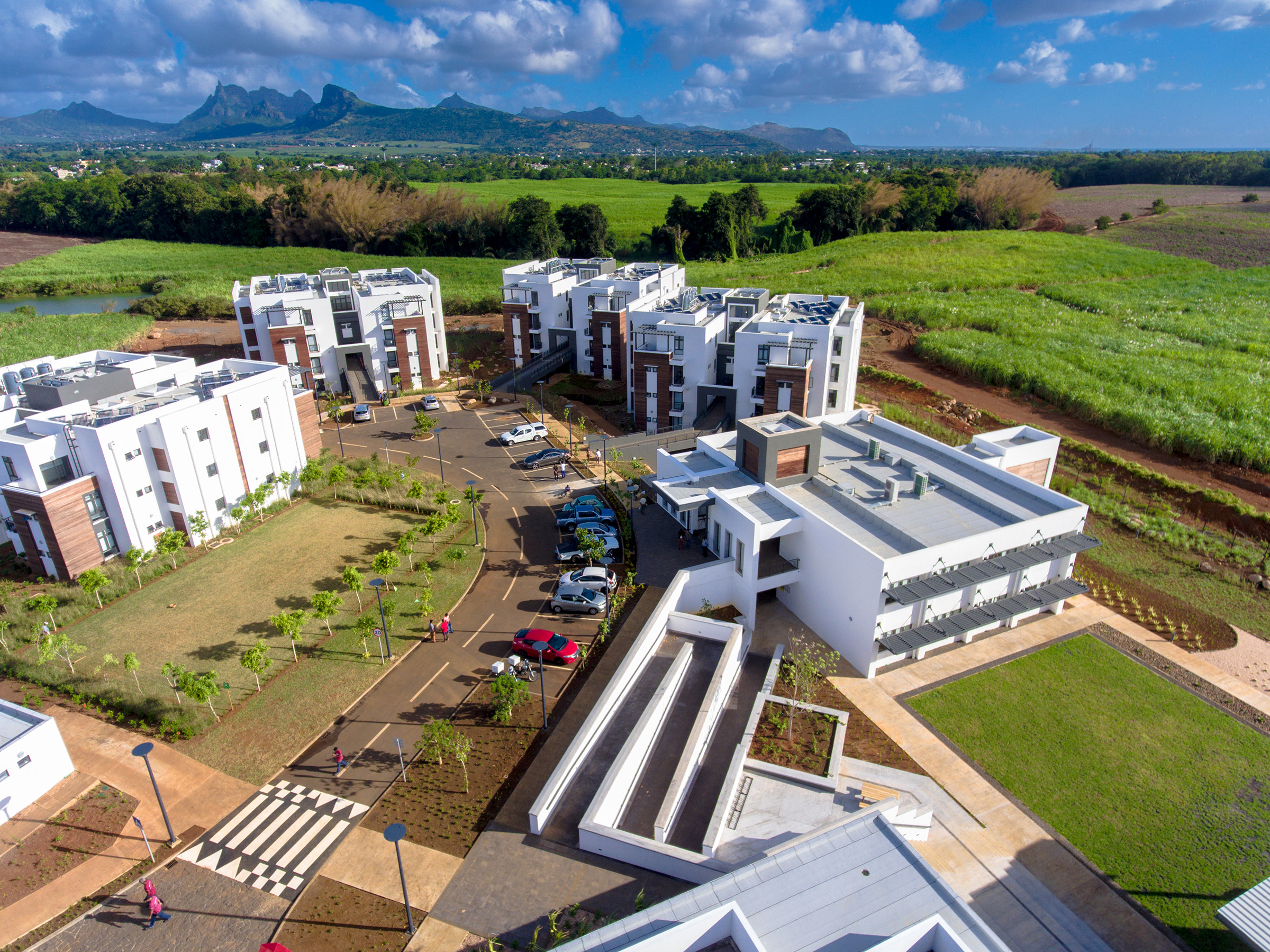 A view of the African Leadership University in Mauritius.