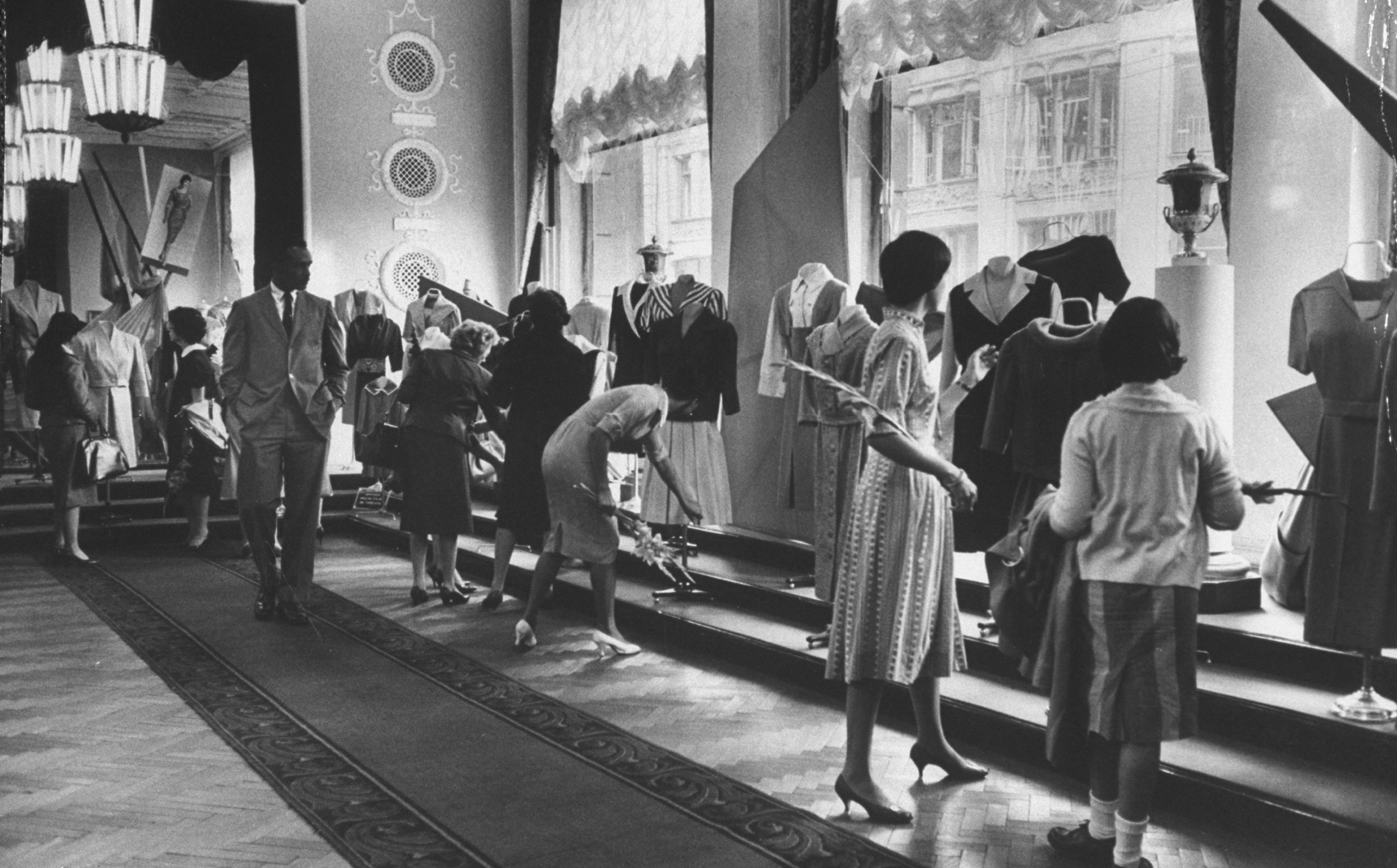 Special showing of American fashions at national exhibit in Moscow, 1959.