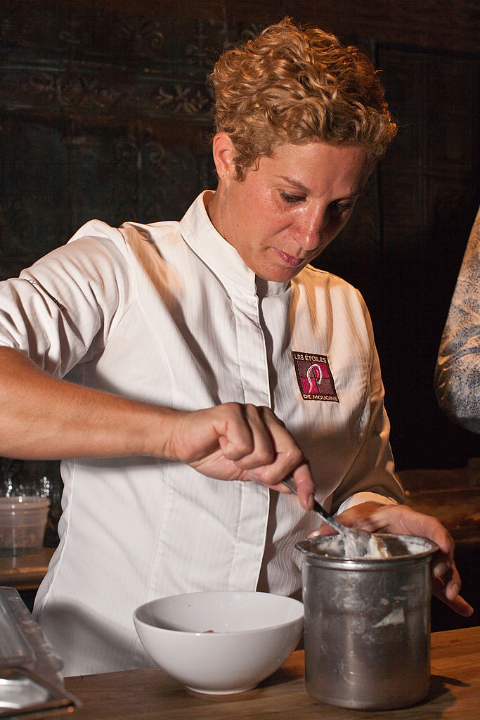 Ana Ros of the Hisa Franko restaurant in Kobarid, Slovenia, cooks one of the most surprising meals of the weekend at Exquisite Corpse, in New York City's Chelsea district, September 24, 2011, thrusting her tiny country into New York's limelight.