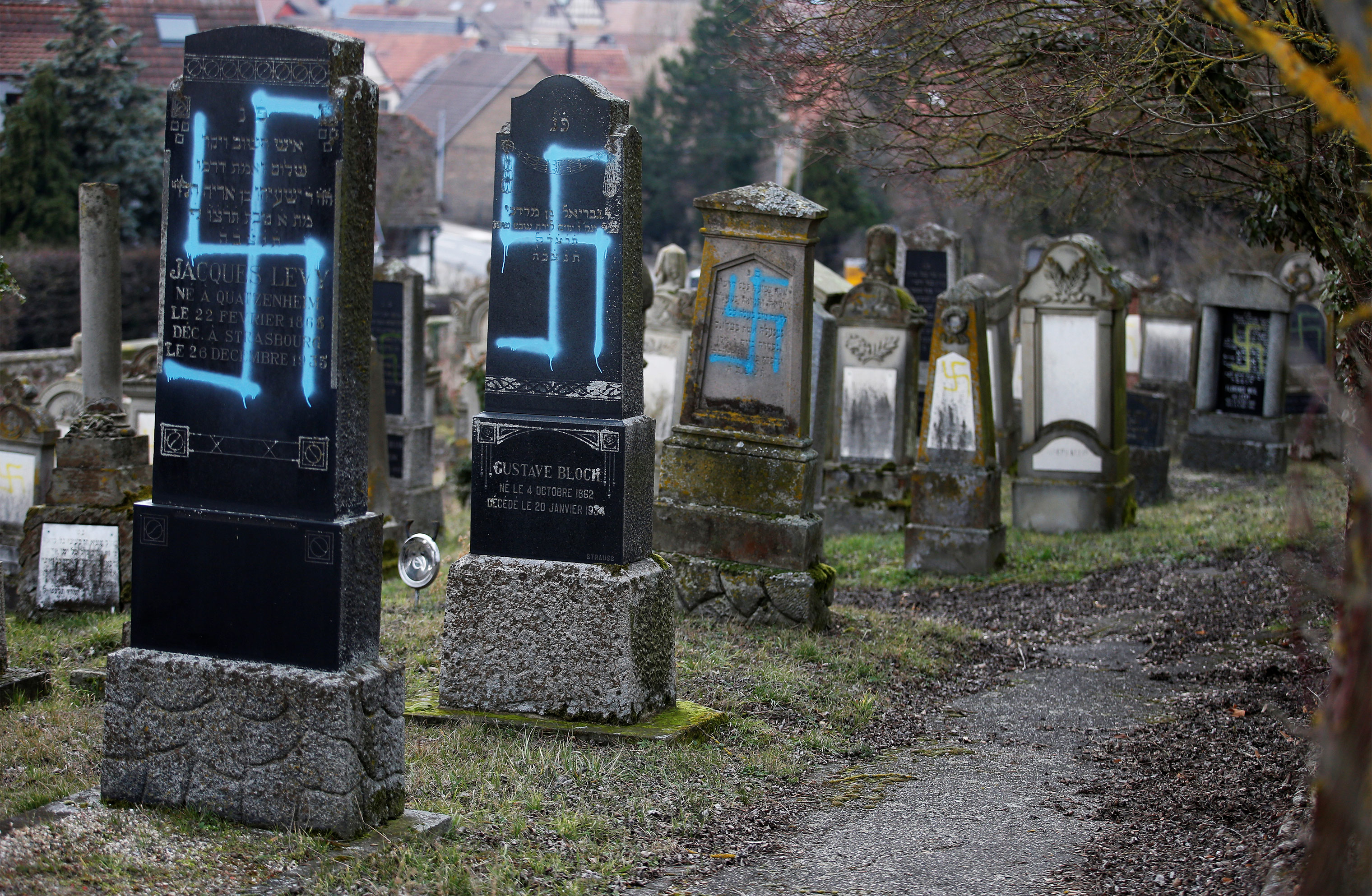This past February, about 90 graves in a Jewish cemetery in Eastern France were desecrated with swastikas. After visiting the cemetery, French President Emmanuel Macron deemed anti-Semitism the worst it's been since the Nazi era.