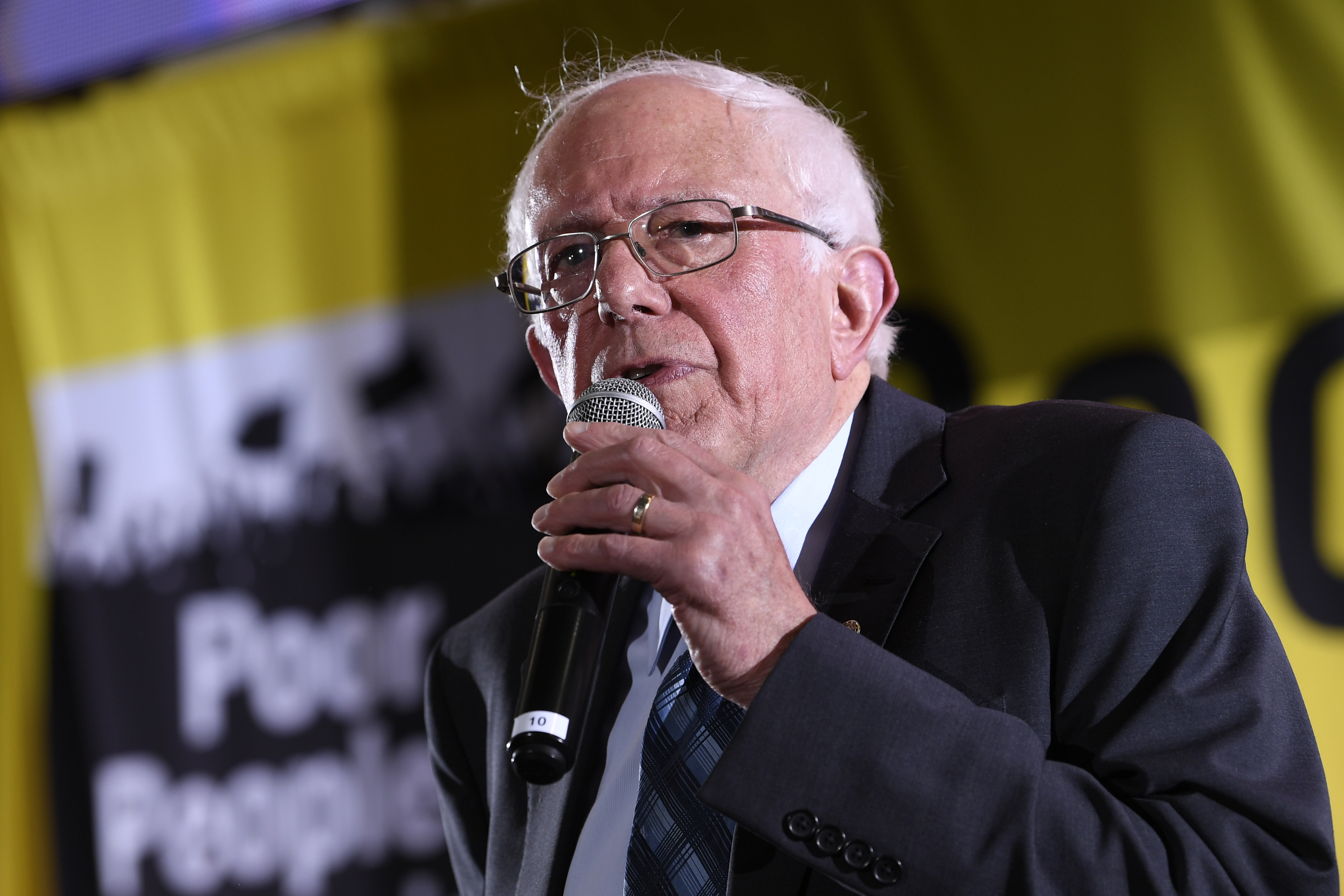 Democratic presidential candidate Sen. Bernie Sanders, I-Vt., speaks at the Poor People's Moral Action Congress presidential forum in Washington on June 17, 2019.