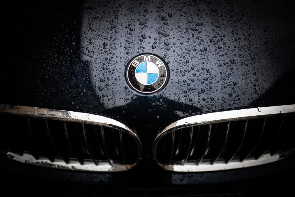 The emblem of BMW is pictured on January 9, 2019 in Berlin, Germany.