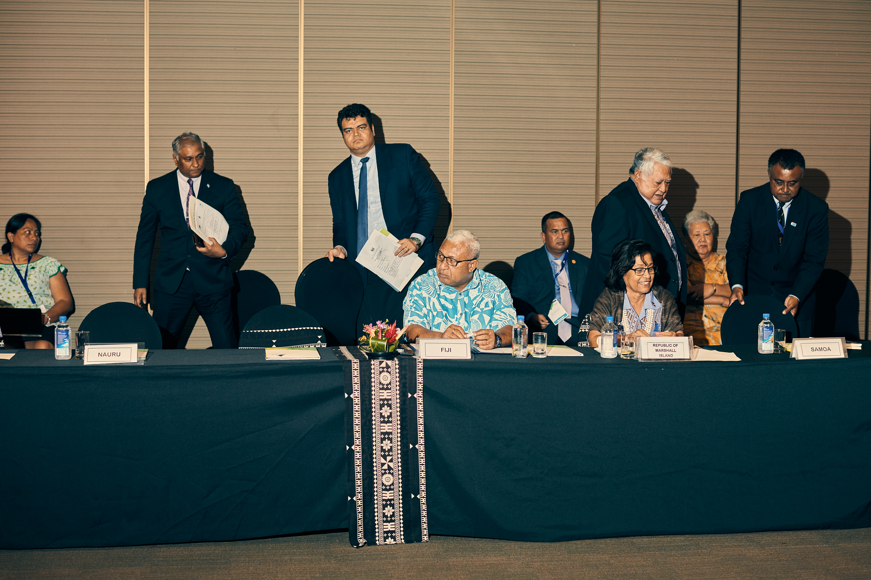 Pacific leaders meet to discuss their climate agenda.