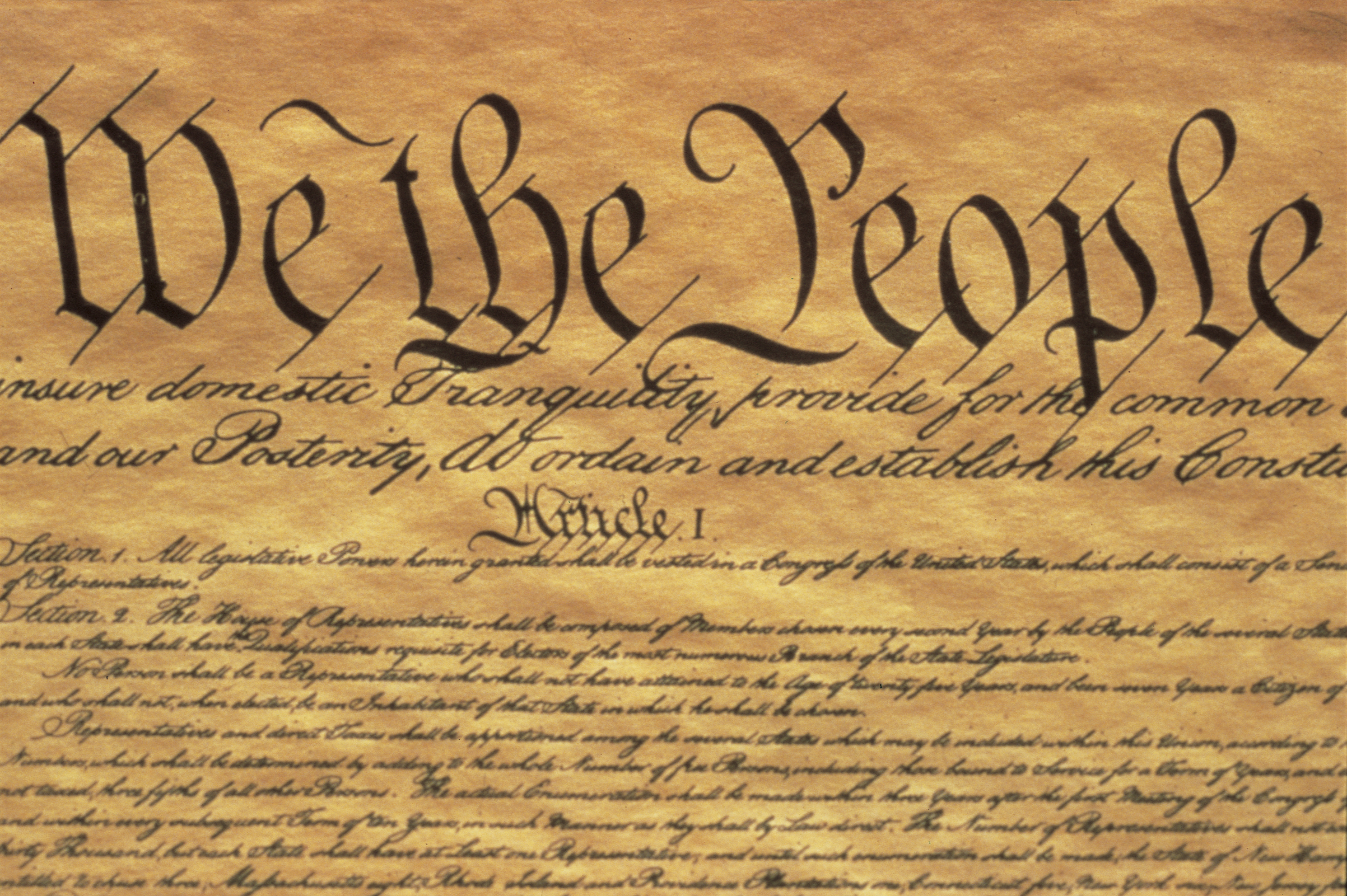 The Preamble to the US Constitution