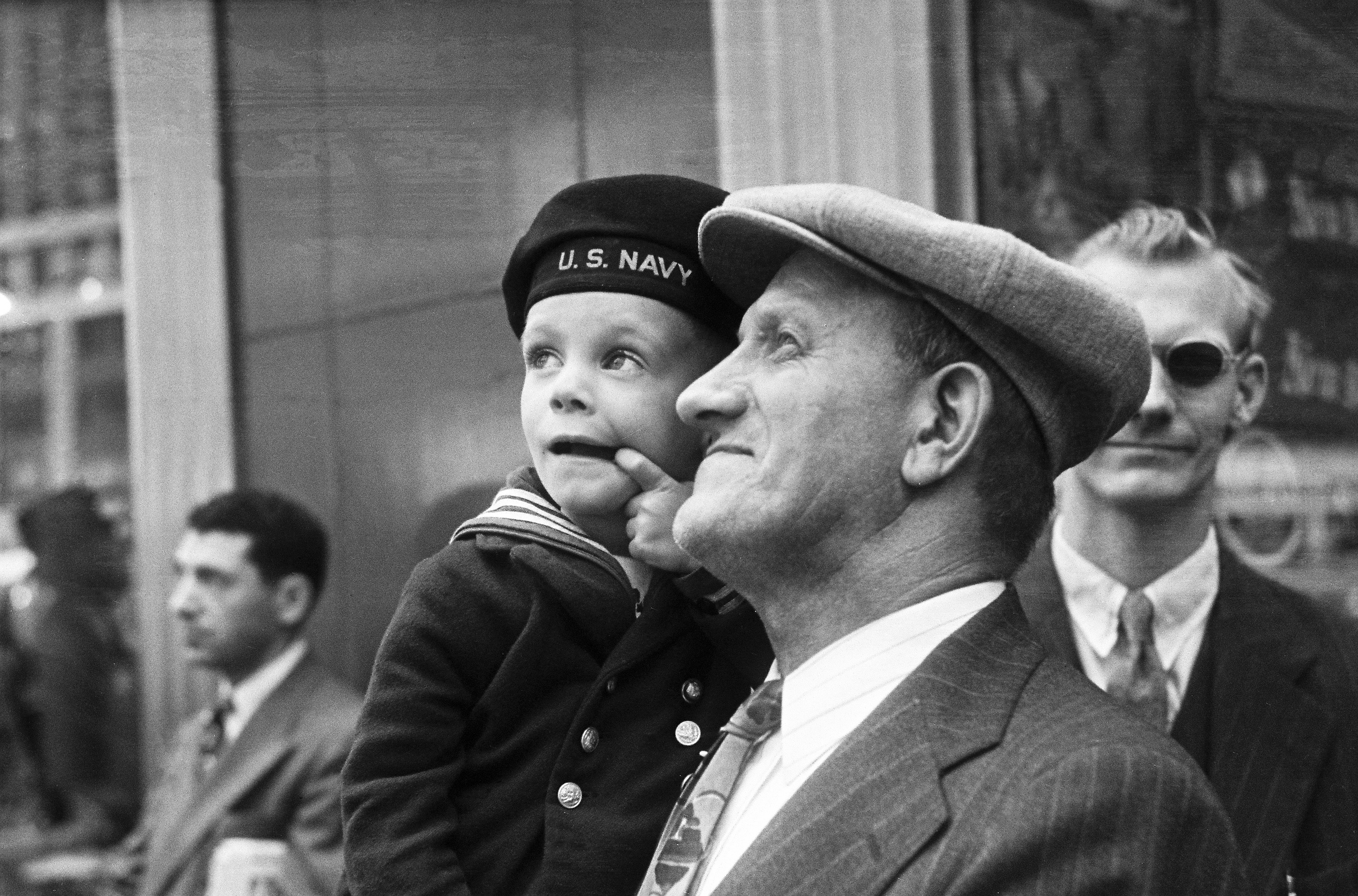 Scenes from D-Day in New York City, June 6 1944.