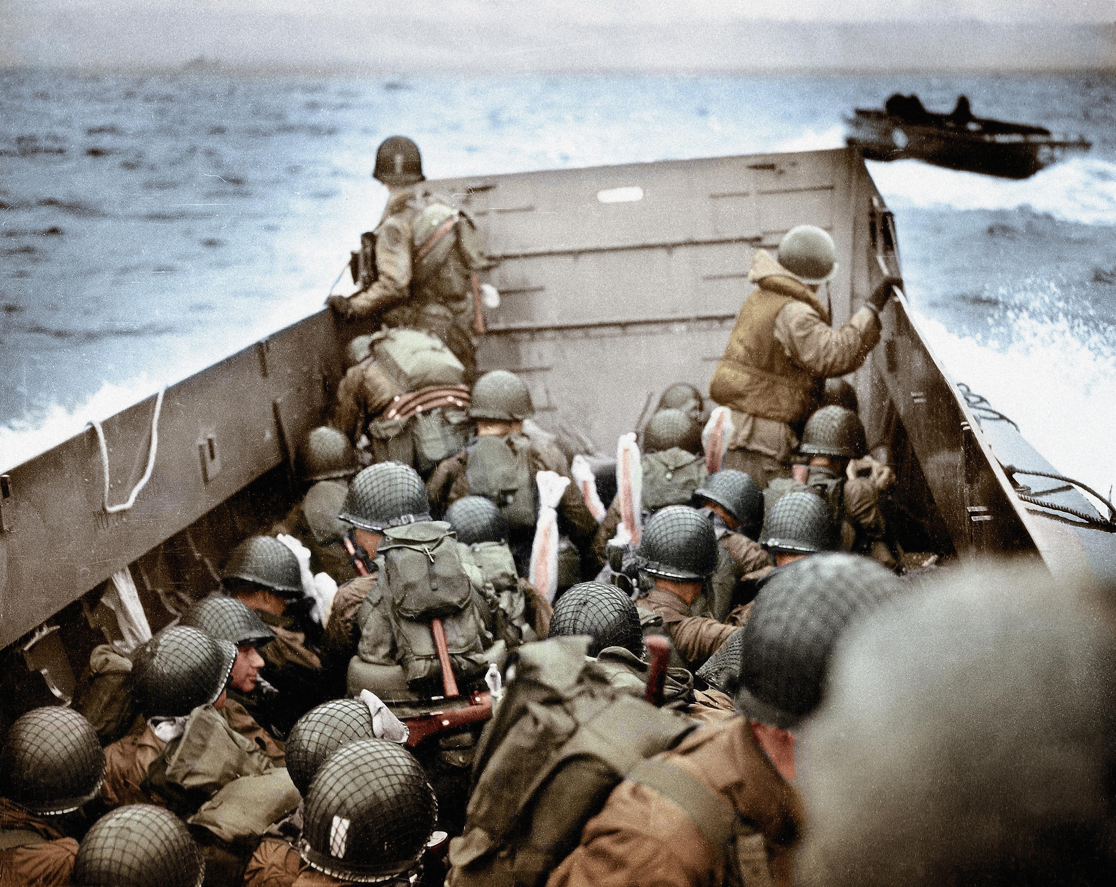 WW2 D-Day Invasion Combat Scene Picture
