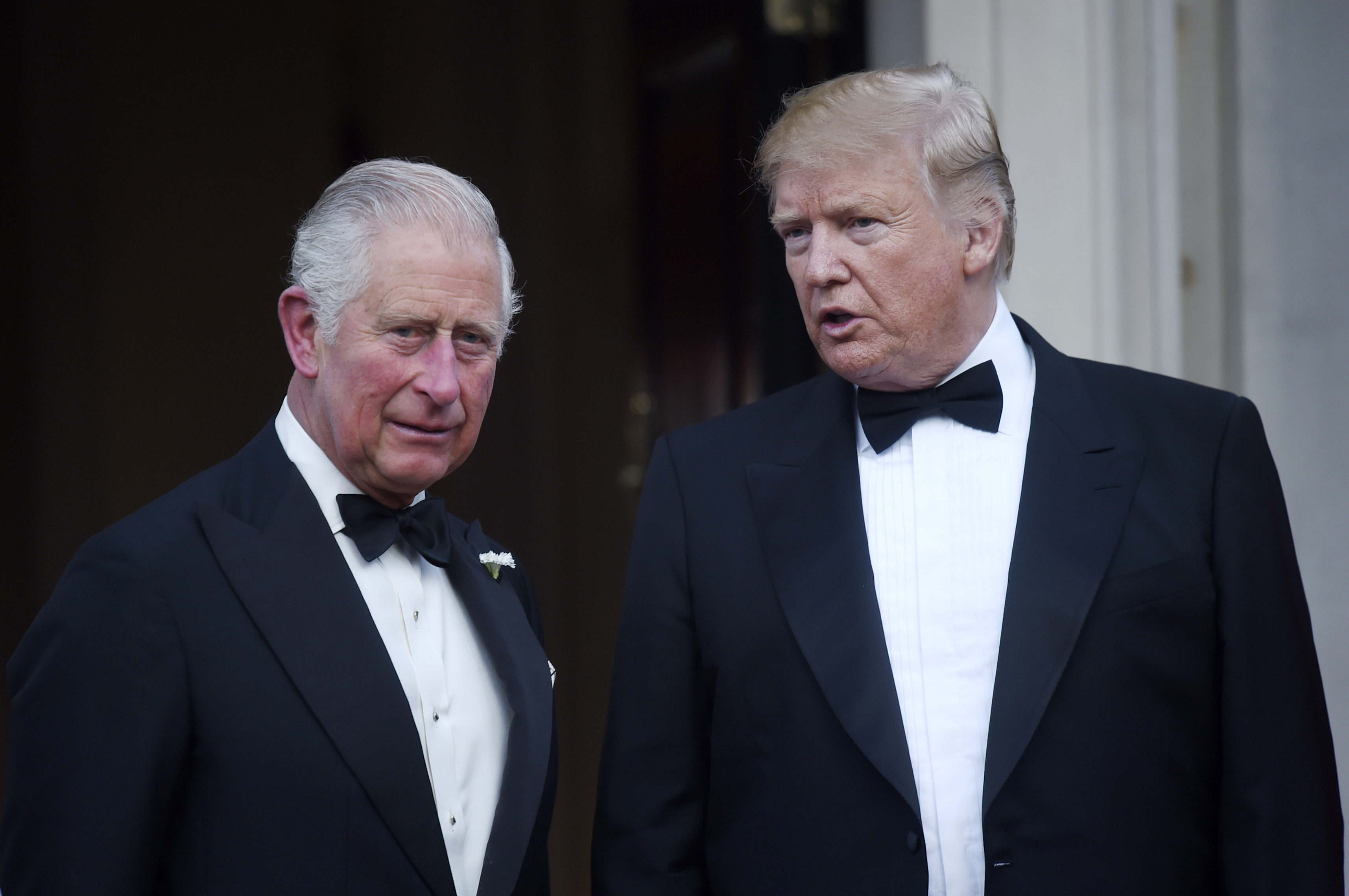 President Donald Trump and Prince Charles pose ahead of a dinner at Winfield House on June 4, 2019 in London, England.