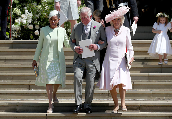 Doria Ragland, Prince Charles, Prince of Wales and Camilla, Duchess of Cornwall after the wedding of Prince Harry, Duke of Sussex and Meghan, Duchess of Sussex at St George's Chapel at Windsor Castle in Windsor, England on May 19, 2018.