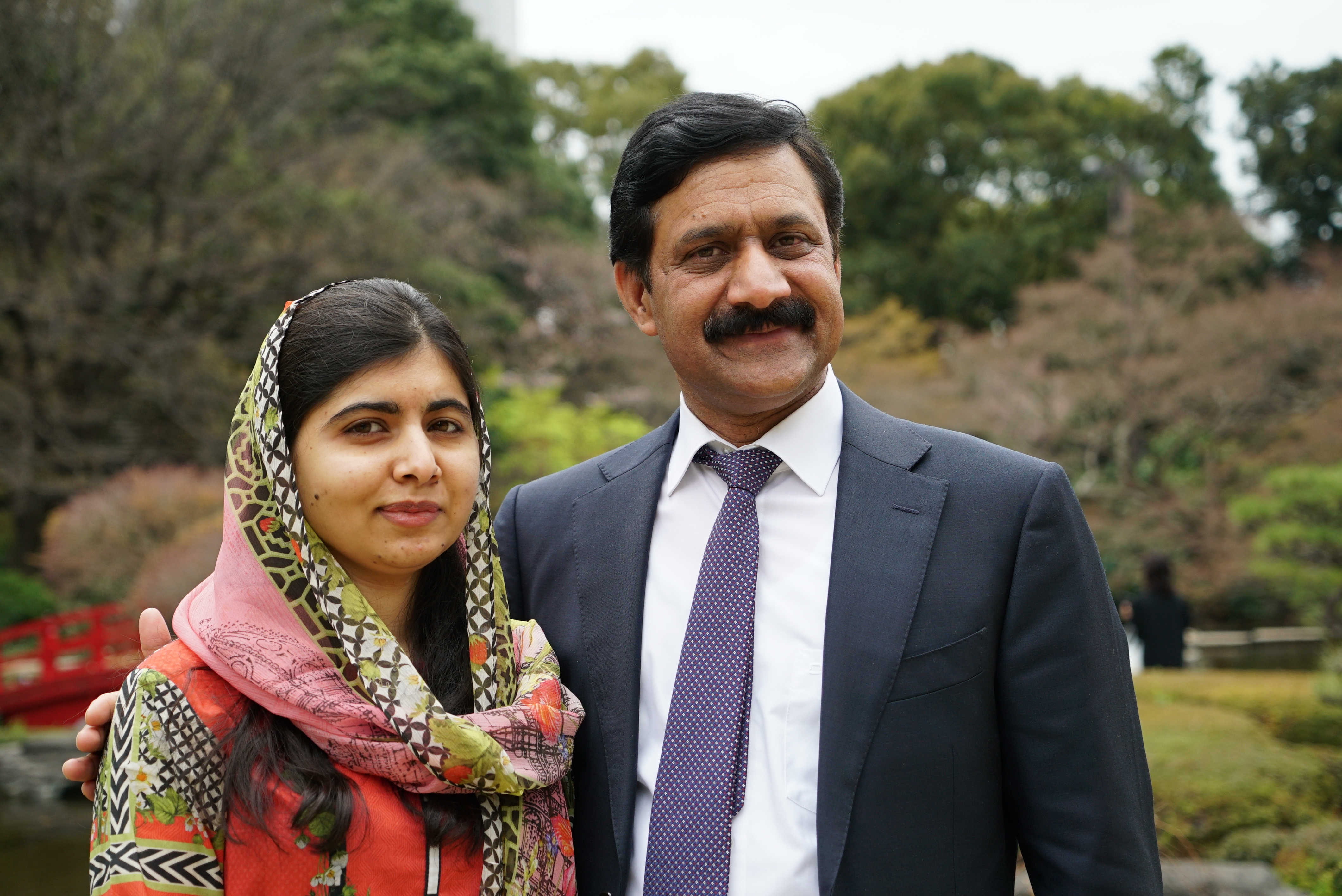 Ziauddin Yousafazi with his daughter Malala