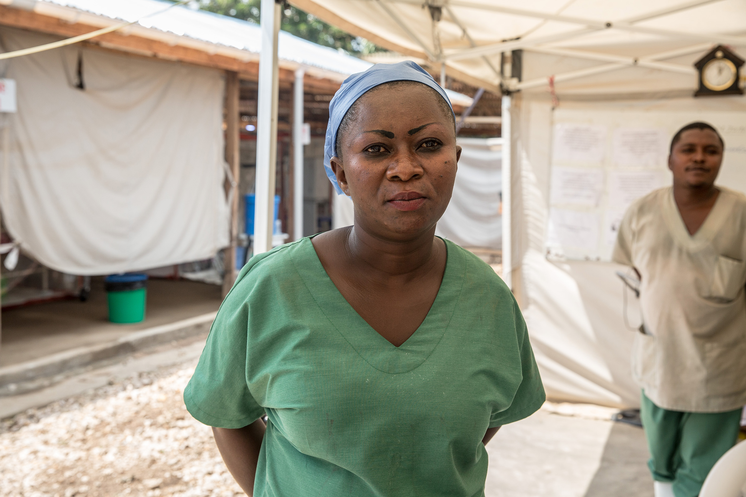 Mother of four Mireille Kavira, 38, says she's been shunned by her community for taking a job in Beni General Hospital's Ebola treatment center, in the Democratic Republic of the Congo.