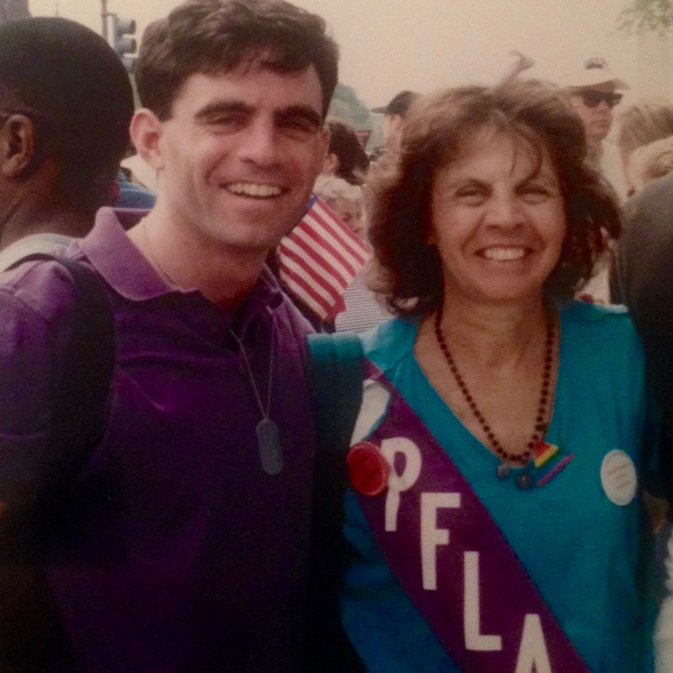 Marcus and his mother at the 1993 March on Washington for Lesbian, Gay, and Bi Equal Rights and Liberation