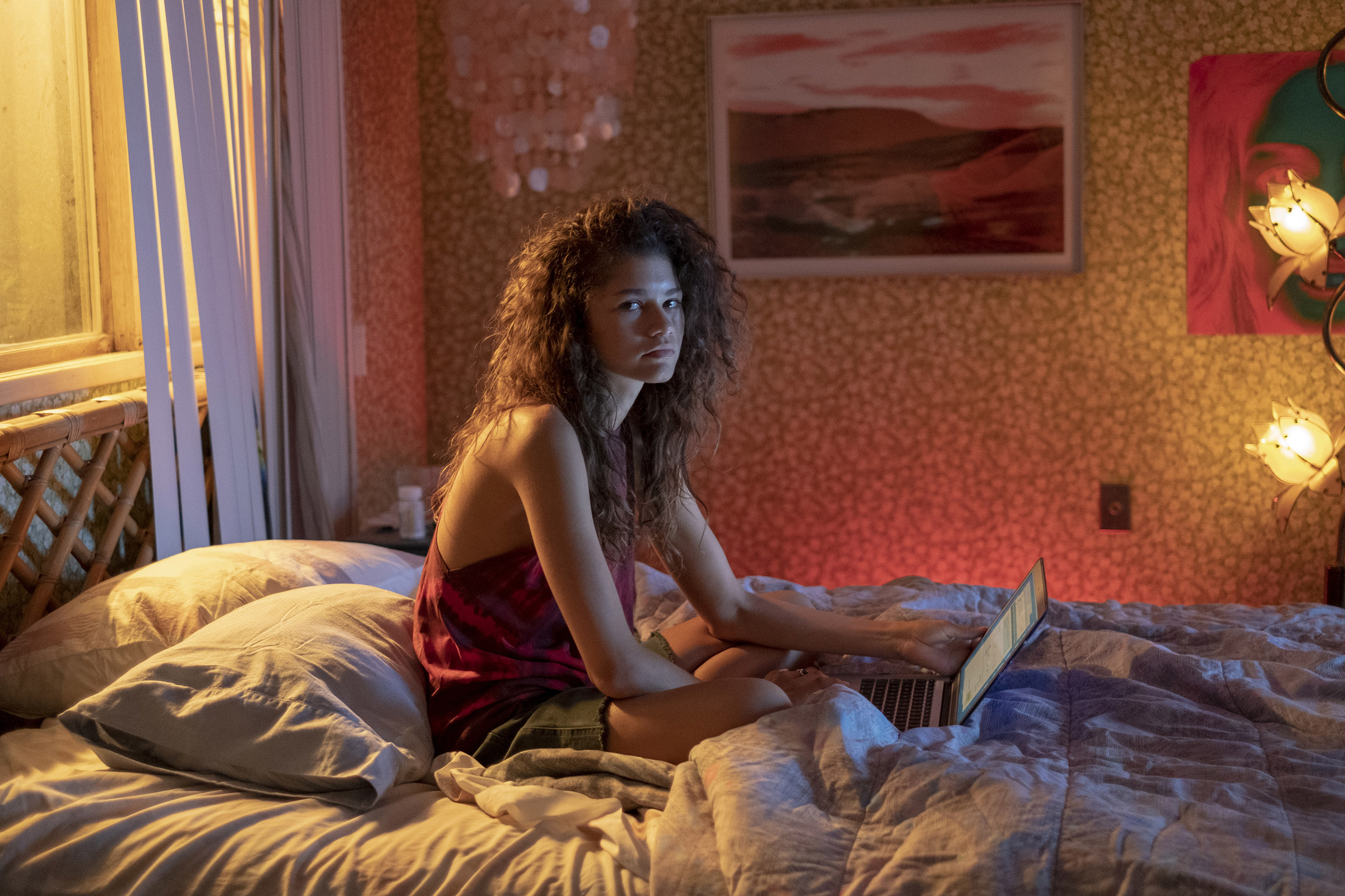 Zendaya in a scene from the HBO show Euphoria.