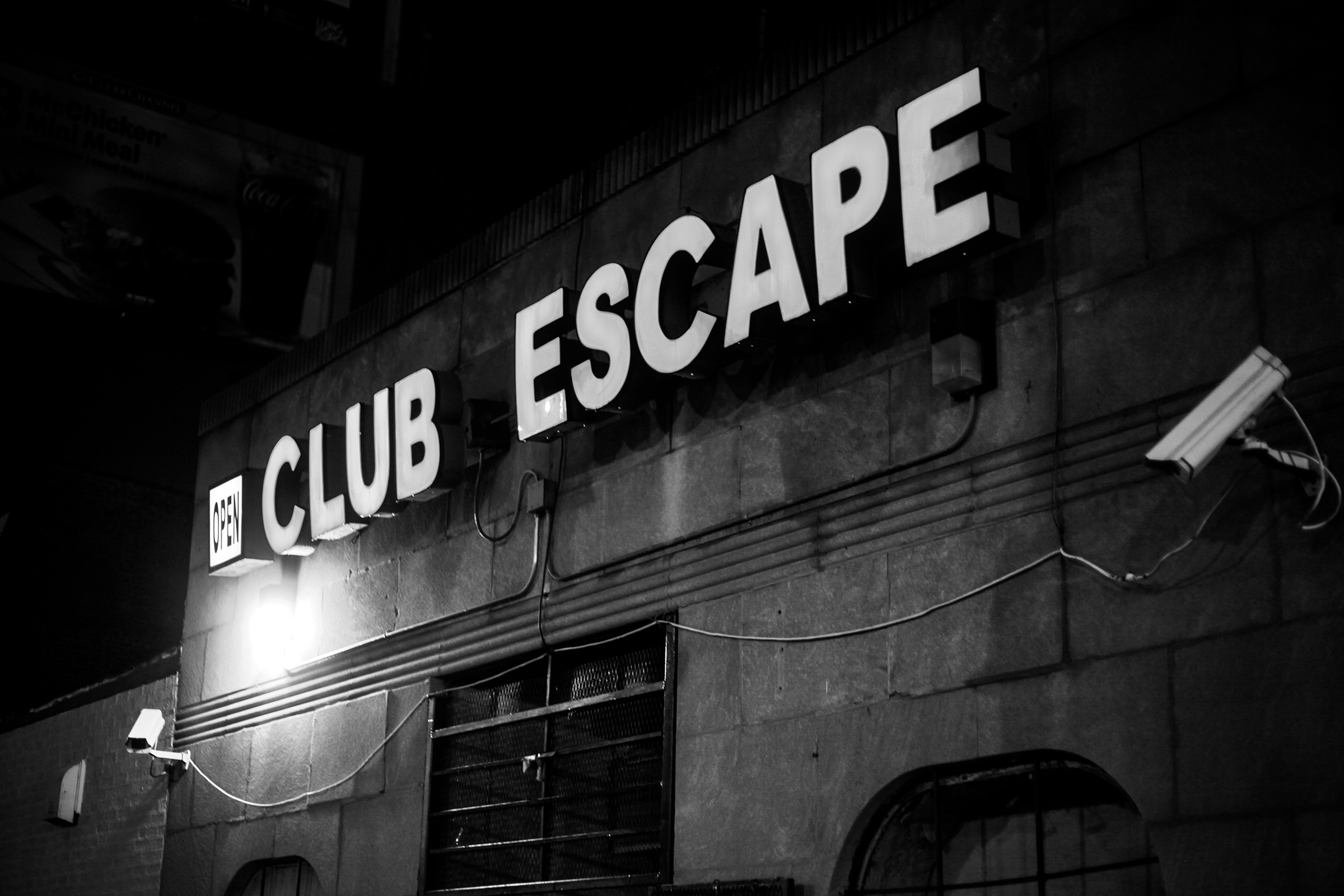 The exterior of Club Escape.