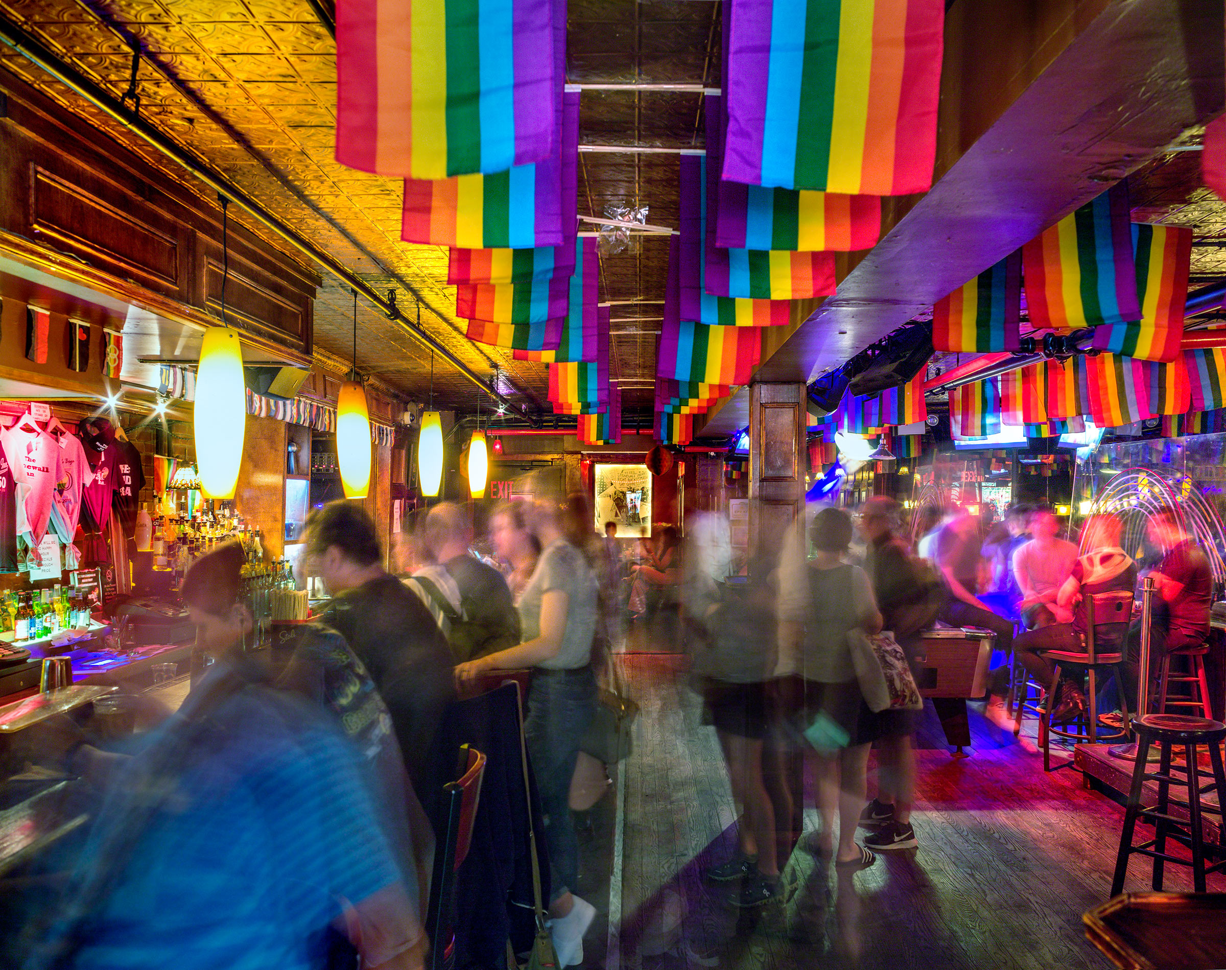 Interior of The Stonewall Inn in New York City.