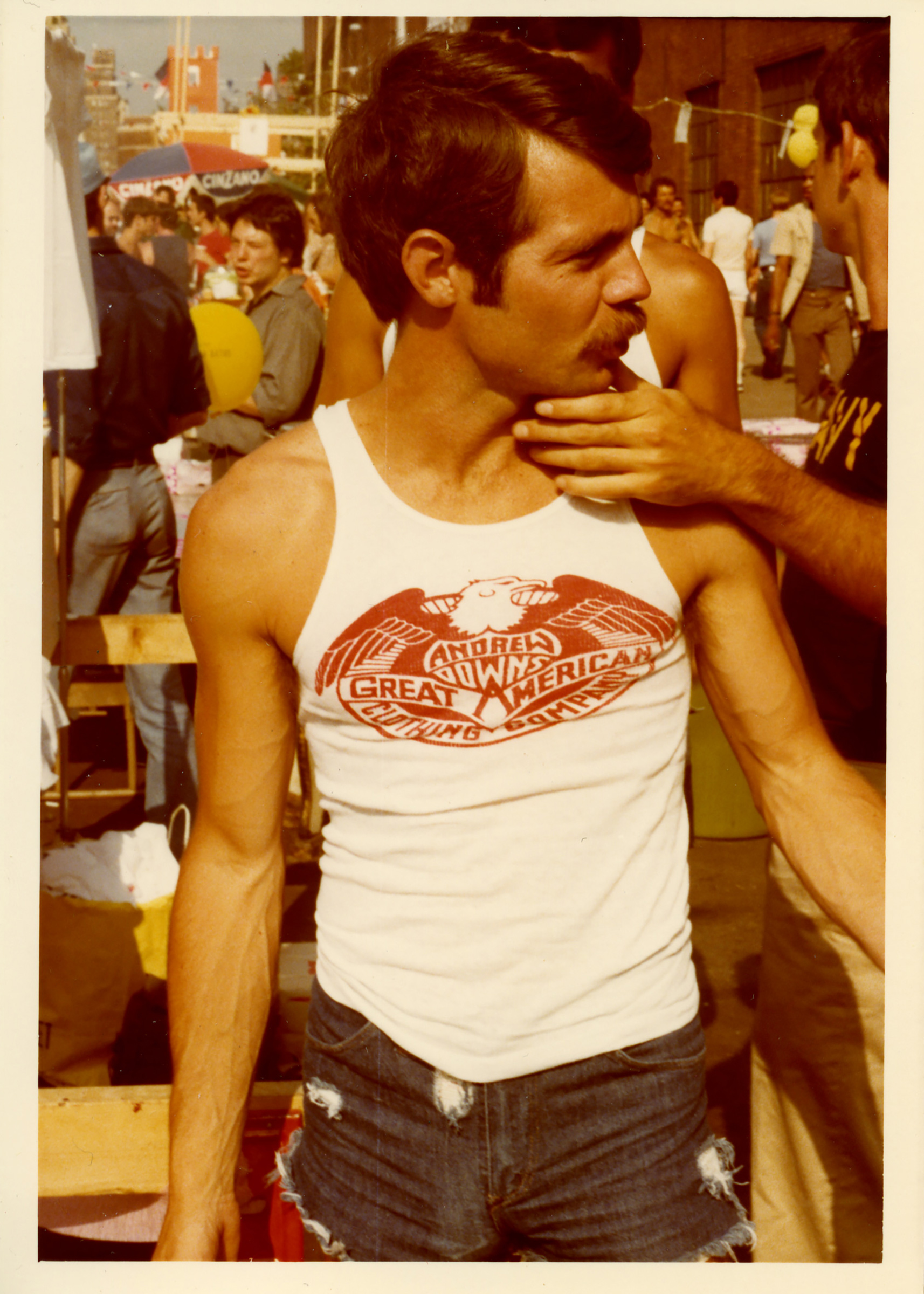 A man at the Pride Parade in 1977