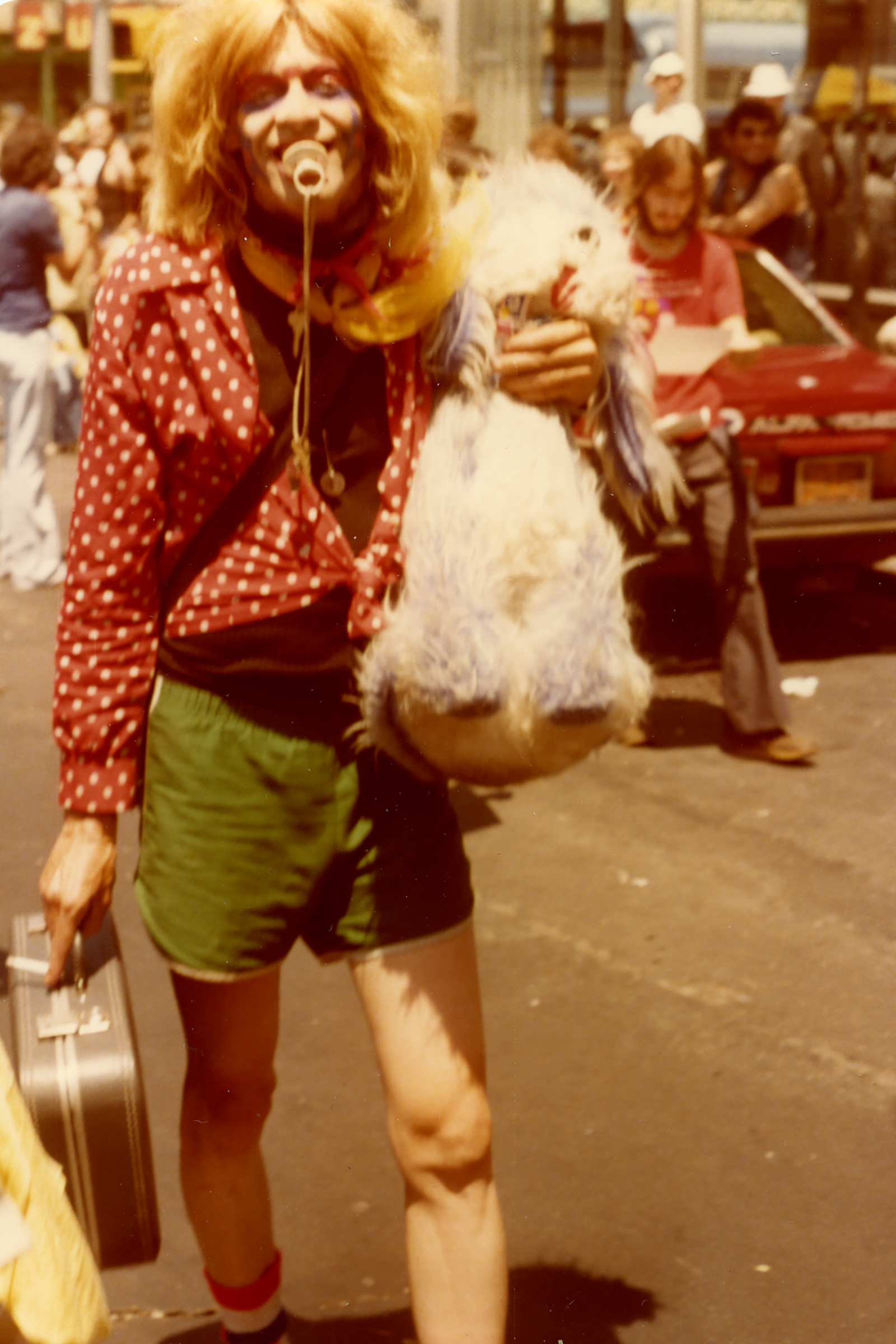A person at Pride in 1978