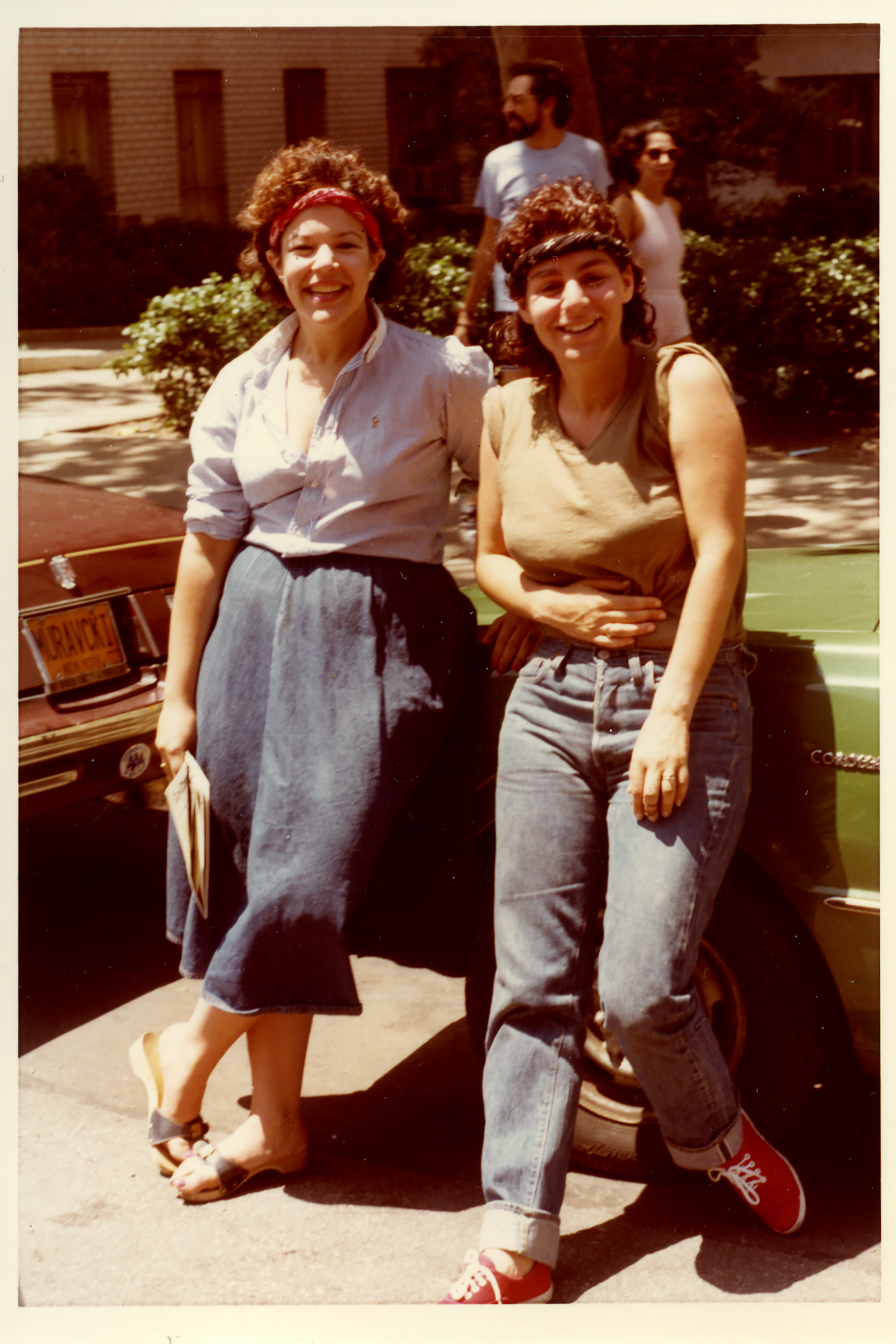 Two women during Pride Parade 1981