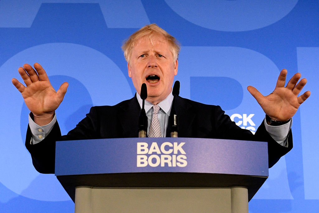 Boris Johnson launches his Conservative Party leadership campaign in London on June 12, 2019.