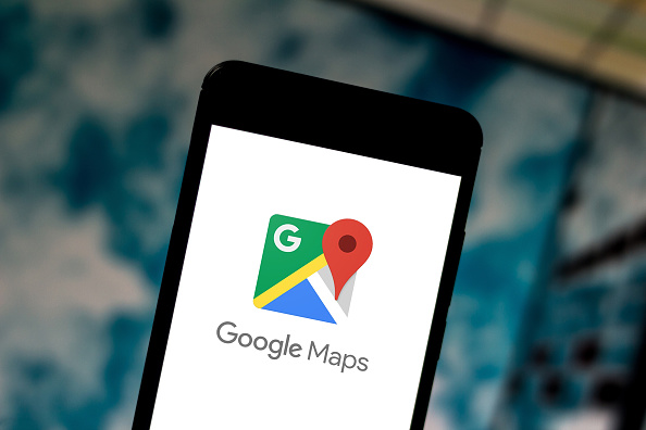 Google Maps displayed on a smartphone