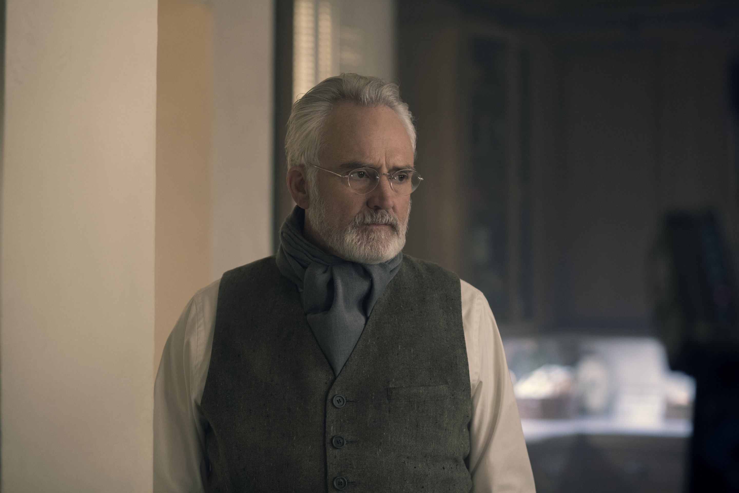 The Handmaid's Tale --  Household  - Episode 306 -- June accompanies the Waterfords to Washington D.C., where a powerful family offers a glimpse of the future of Gilead. June makes an important connection as she attempts to protect Nichole. Joseph (Bradley Whitford), shown.