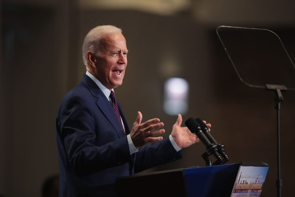 Democratic presidential candidate, former Vice President Joe Biden speaks to guests at the Rainbow PUSH Coalition Annual International Convention on June 28, 2019 in Chicago, Illinois.