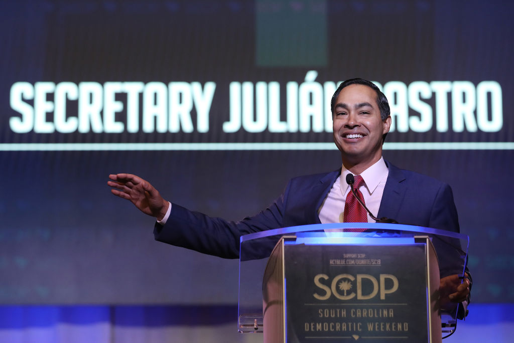 Democratic presidential candidate and former HUD Secretary Julian Castro speaks at the South Carolina Democratic Party State Convention on June 22, 2019 in Columbia, South Carolina.