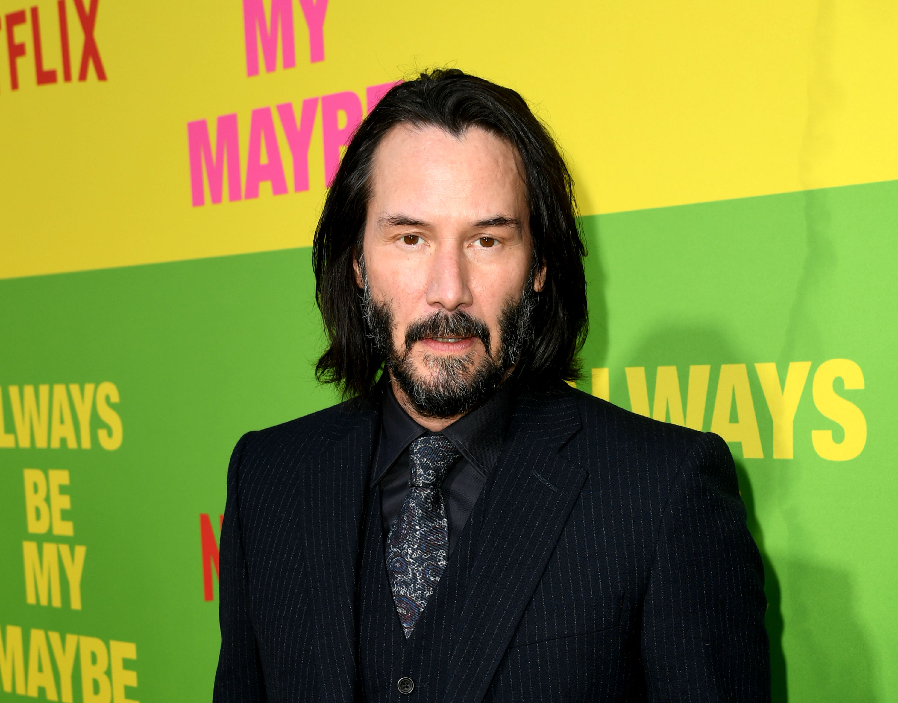 Keanu Reeves arrives at the premiere of Netflix's  Always Be My Maybe  at the Regency Village Theatre on May 22, 2019 in Westwood, California.