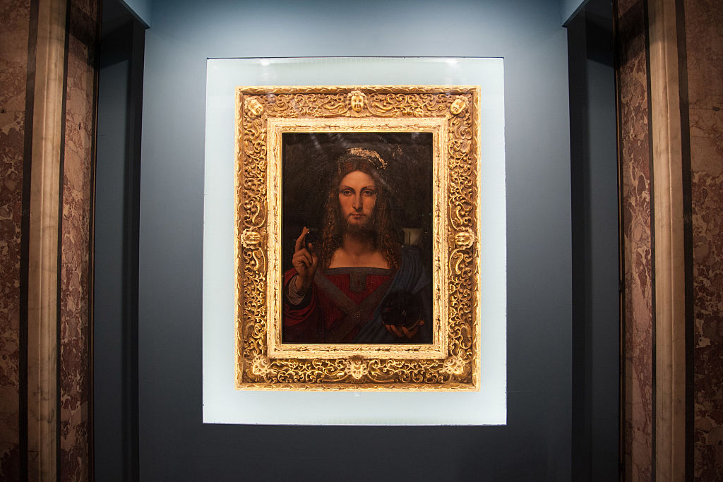 'Salvator Mundi' by Leonardo Da Vinci at the Diocesan Museum of Donnaregina on January 11, 2017 in Naples, Italy.