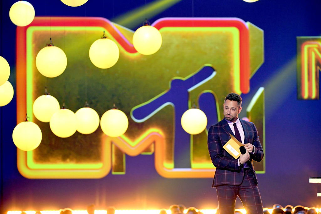 Zachary Levi speaks onstage during the 2019 MTV Movie and TV Awards at Barker Hangar n Santa Monica, Calif. on June 15, 2019.