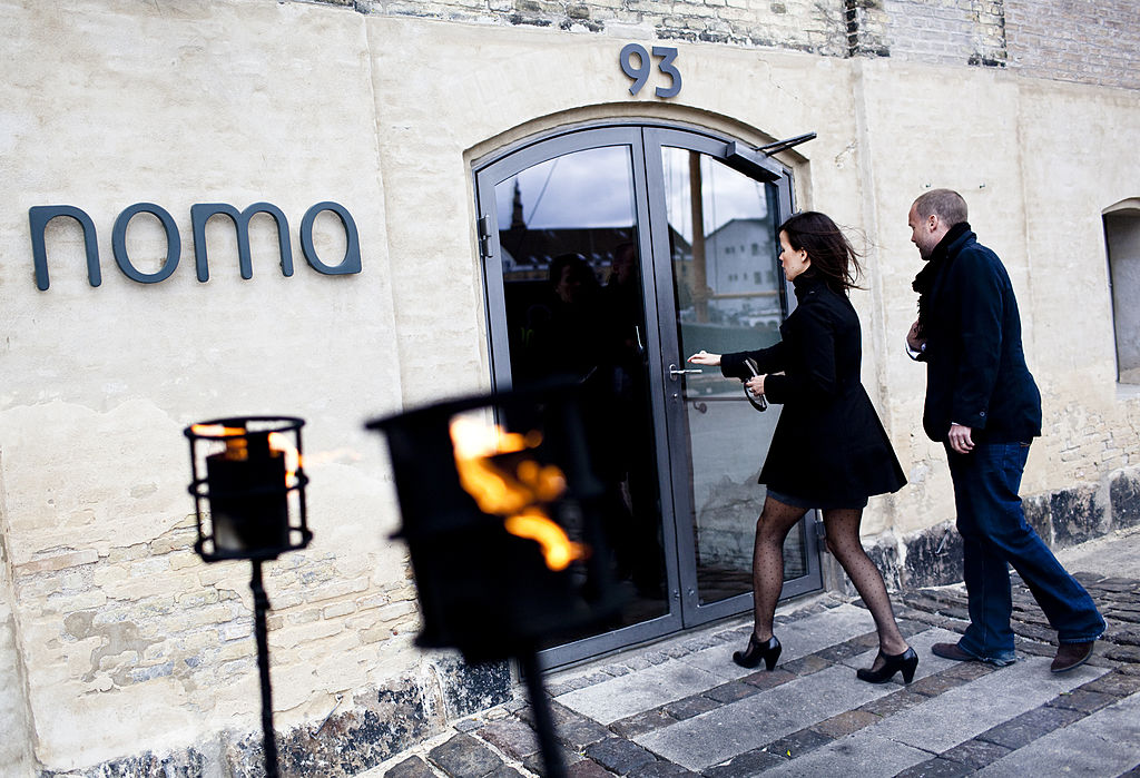 People enter the Noma restaurant in Copenhagen, on April 27, 2010 the day after Noma was chosen for the world's best restaurant, according to the Worlds 50 Best Restaurants Award, which was awarded in London.