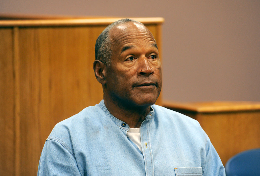 O.J. Simpson attends his parole hearing at Lovelock Correctional Center on July 20, 2017 in Lovelock, Nevada.