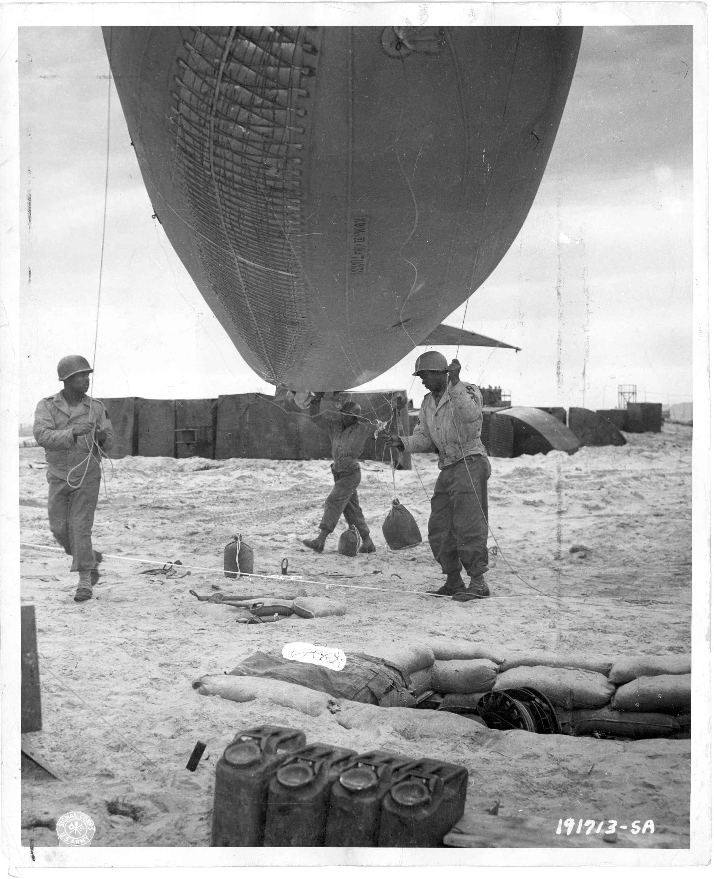 320th Barrage Balloon on Omaha Beach