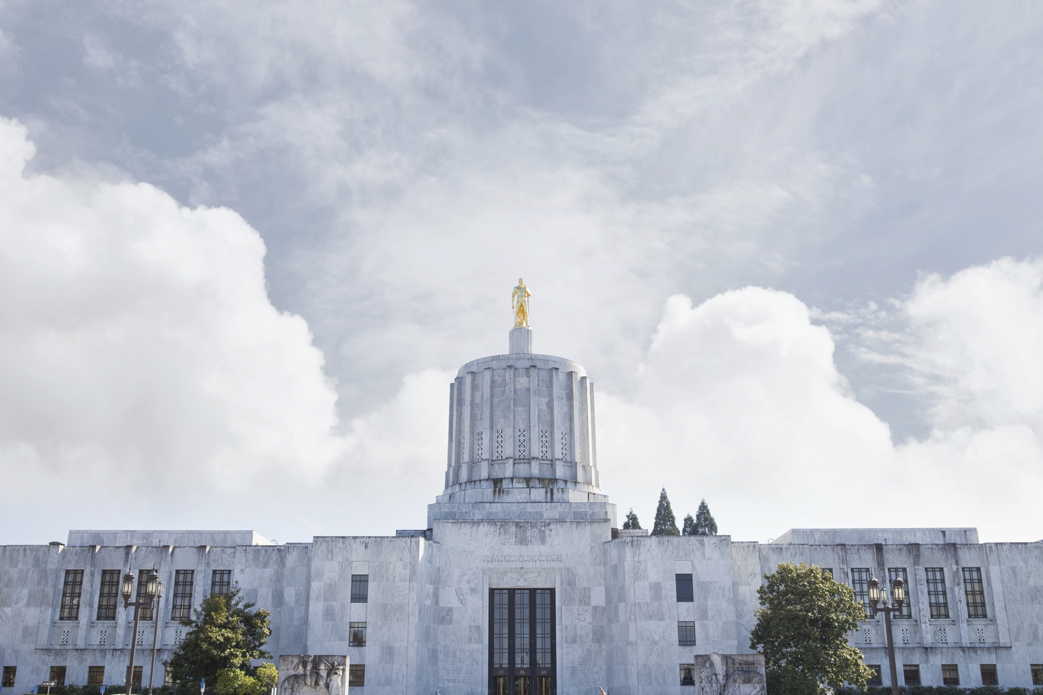 Oregon State Capitol Building in Salem, Oregon.