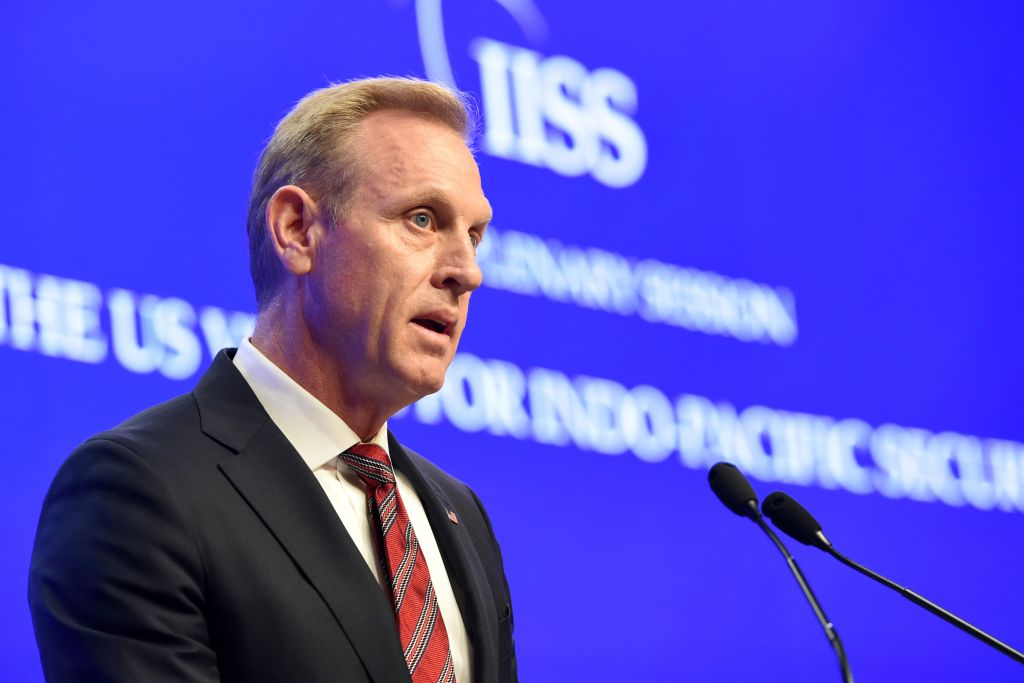 Acting U.S. Secretary of Defense Patrick Shanahan speaks at the IISS Shangri-La Dialogue summit in Singapore on June 1, 2019. President Trump announced on Twitter on Tuesday, June 18, that Shanahan will not be continuing with the nomination process.