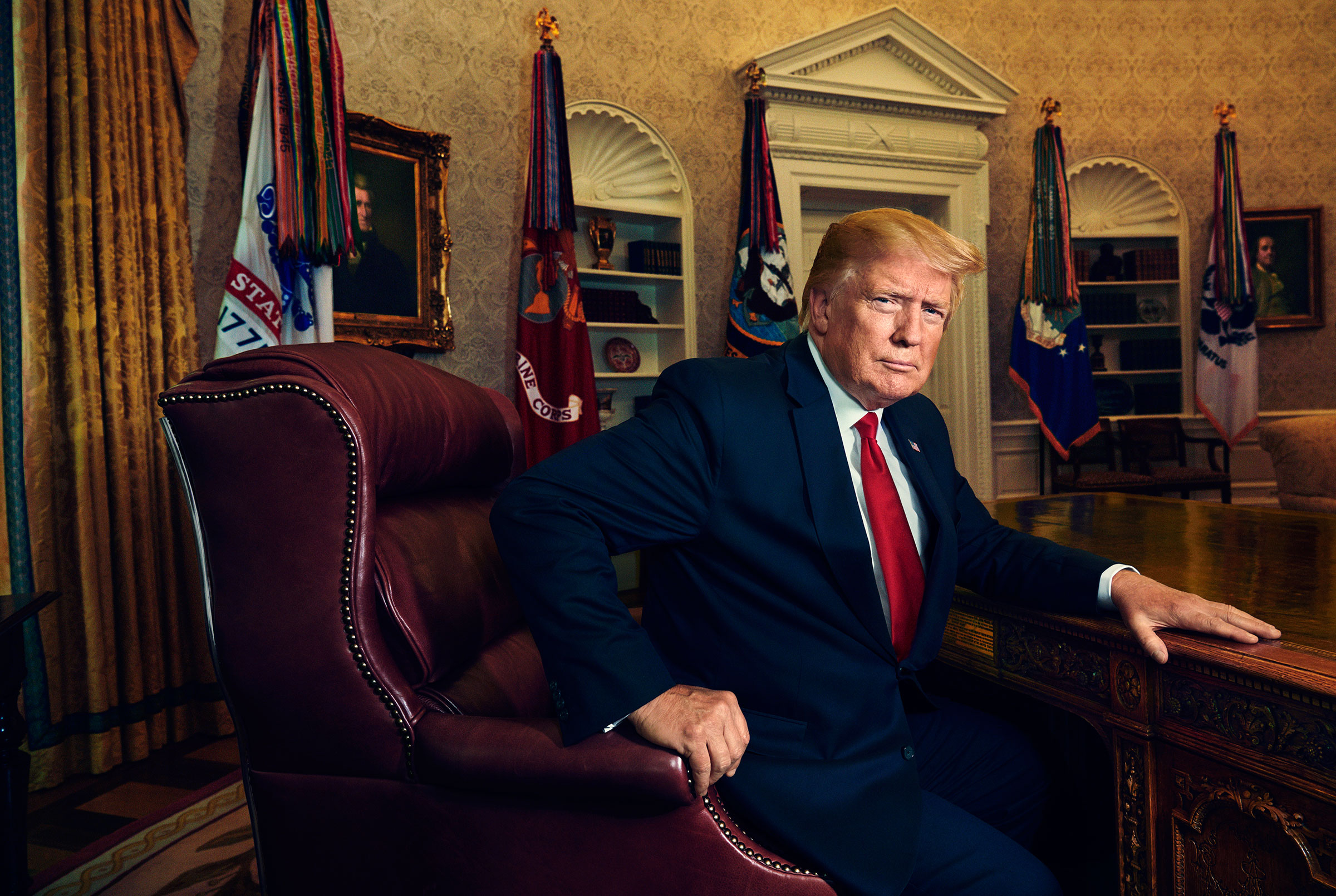 Trump in the Oval Office on June 17.