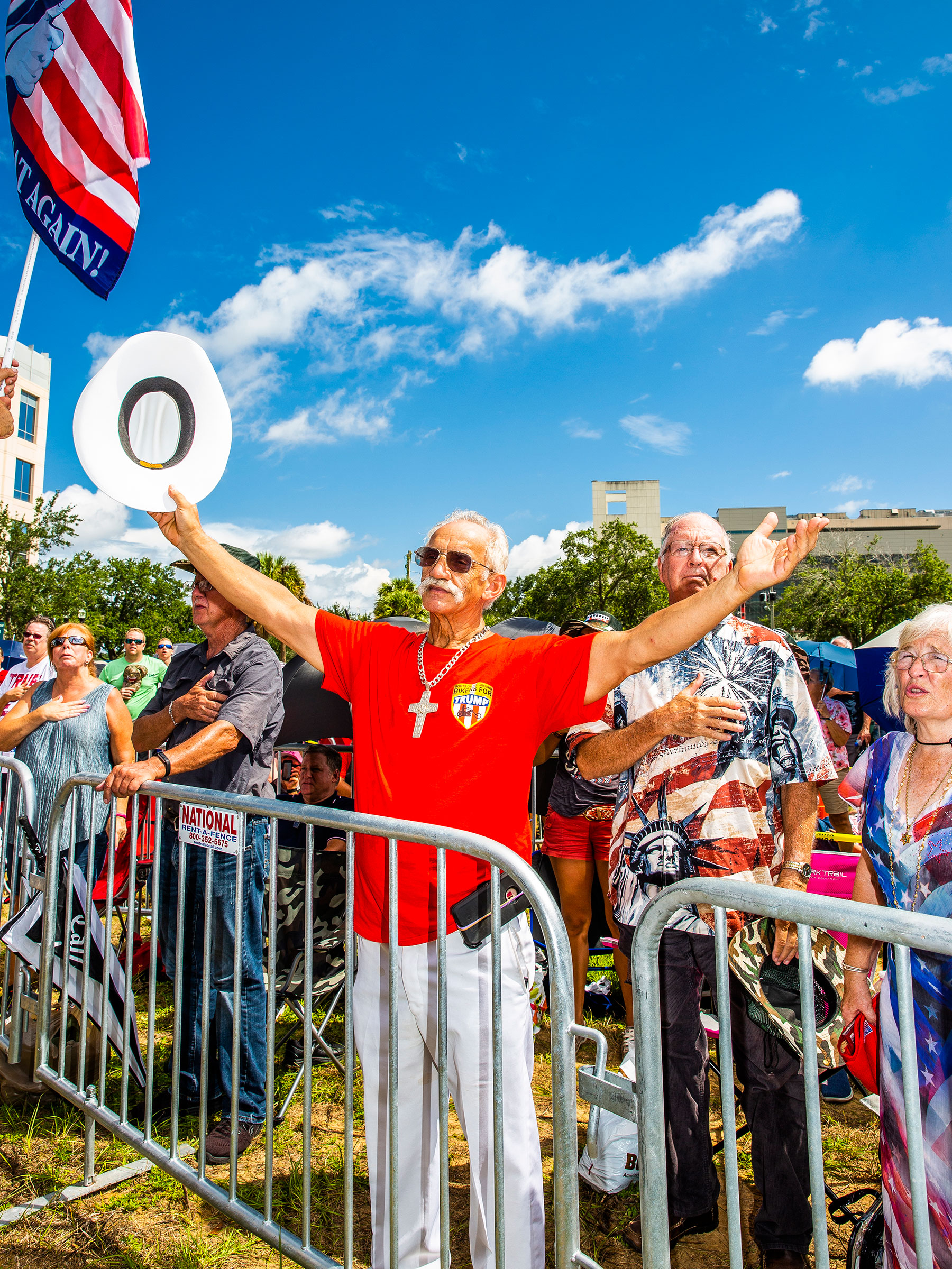 Attendees of Trump 2020 rally Orlando, Florida
